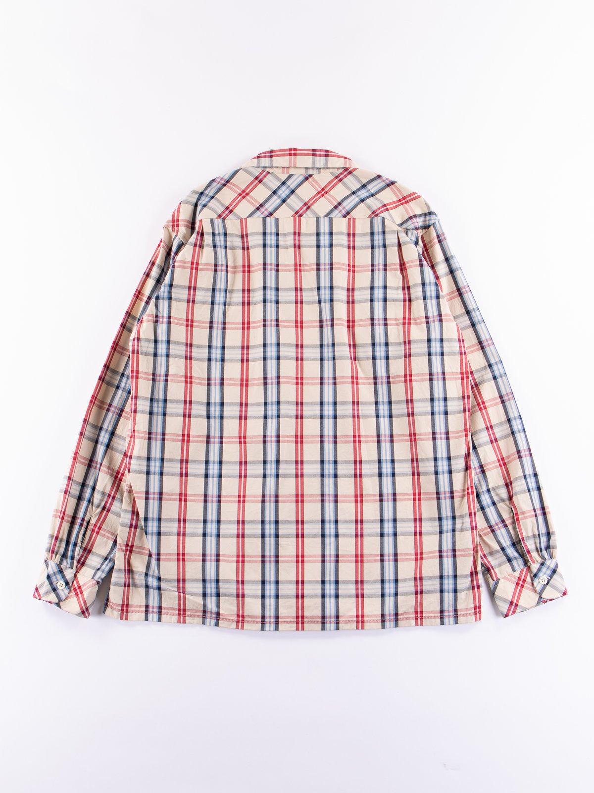Khaki/Red/Blue Plaid Classic Shirt - Image 5