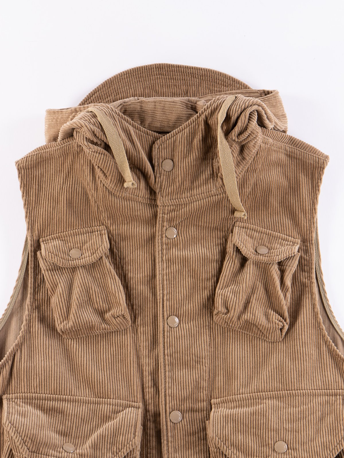 Khaki 8W Corduroy Field Vest - Image 4