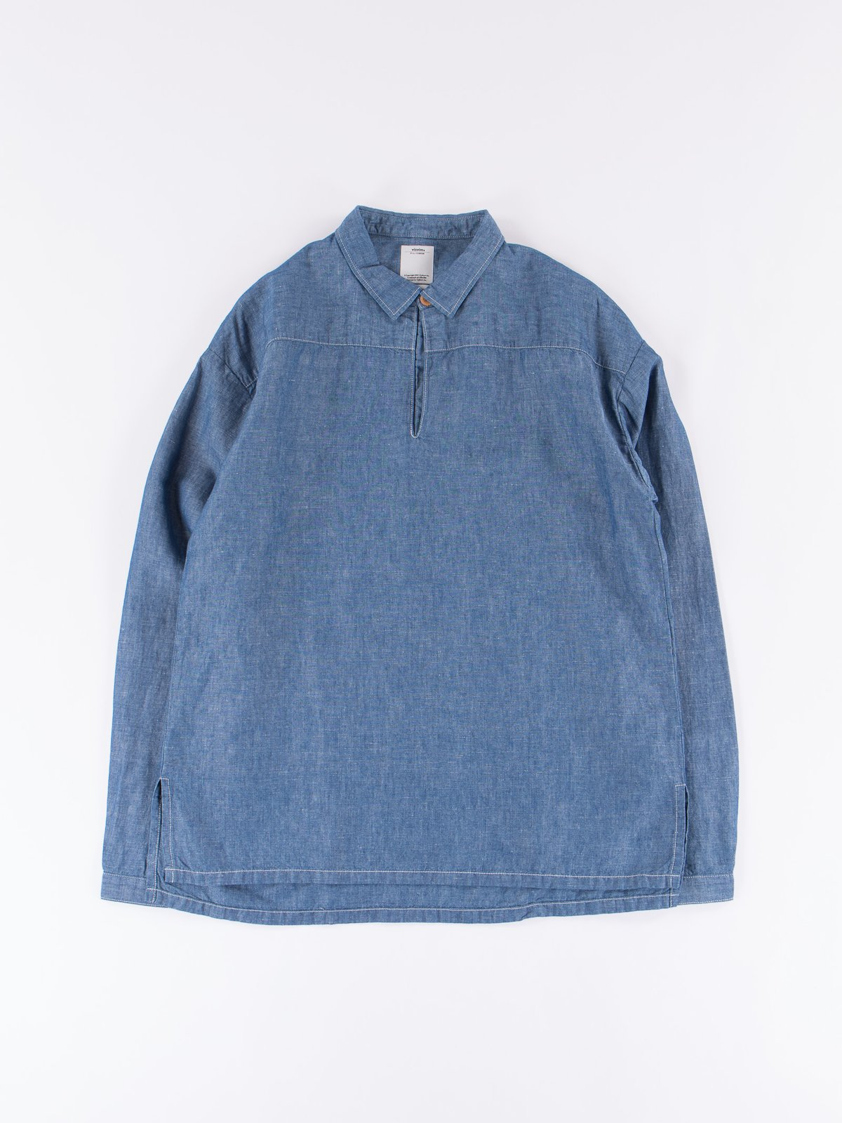 Blue Chambray Kerchief Tunic Shirt - Image 1