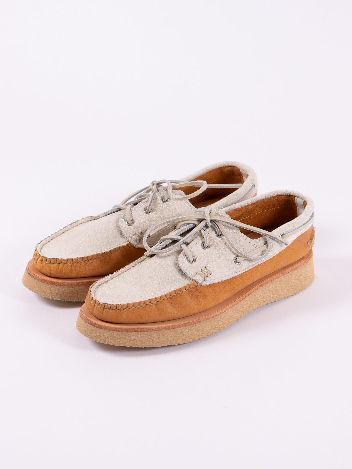 BB Tan/FO White Boat Shoe Exclusive - Image 2