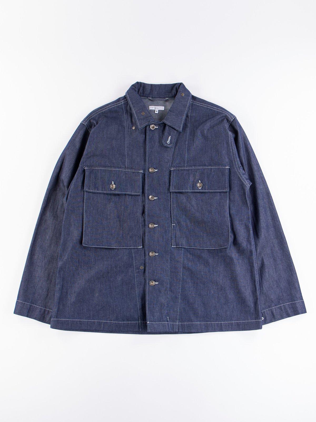 Indigo 8oz Cone Denim M43/2 Shirt Jacket - Image 1