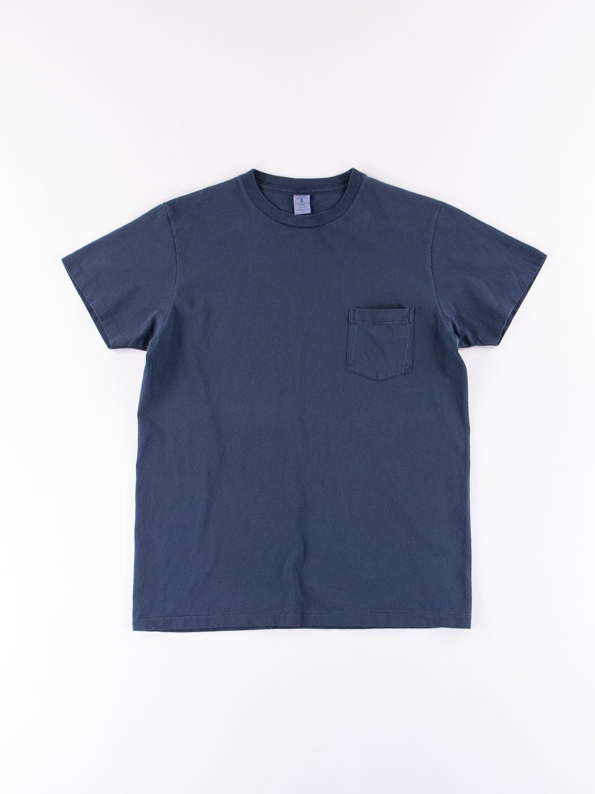 Navy Pigment Dye Pocket Tee - Image 1
