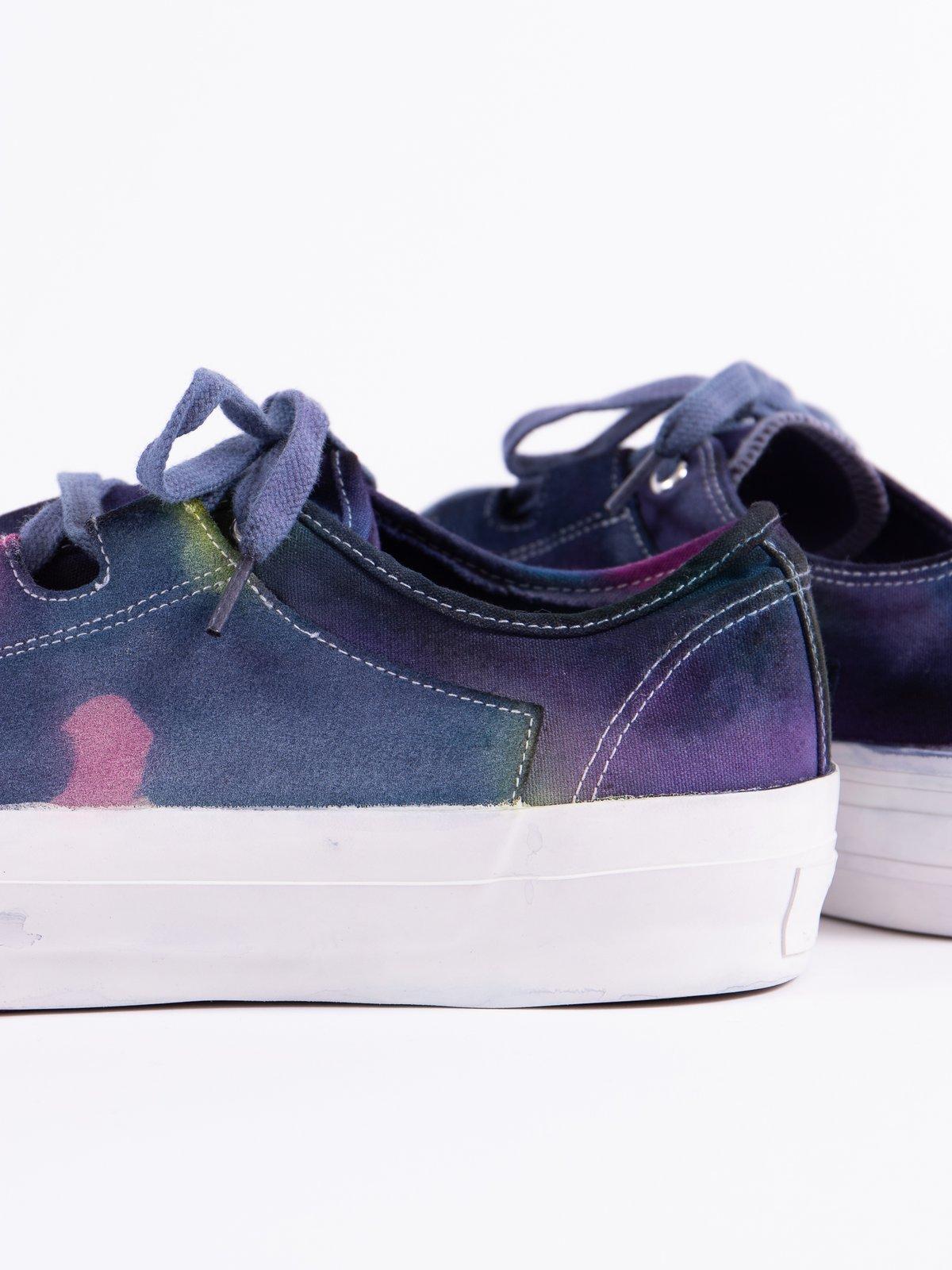 Purple/Yellow Asymmetric Ghillie Sneaker - Image 5