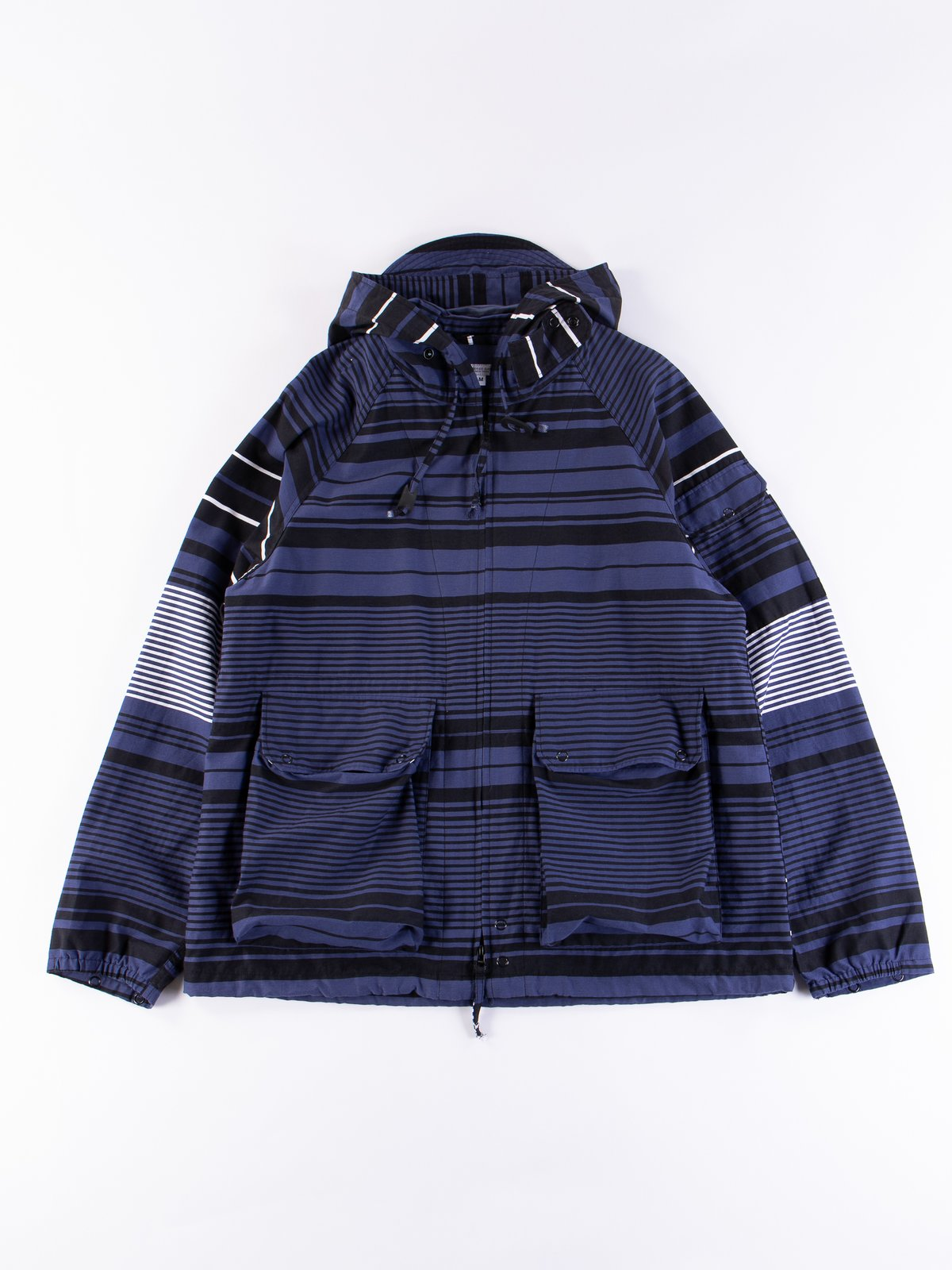 Navy Horizontal Stripe Activecloth Atlantic Parka - Image 1
