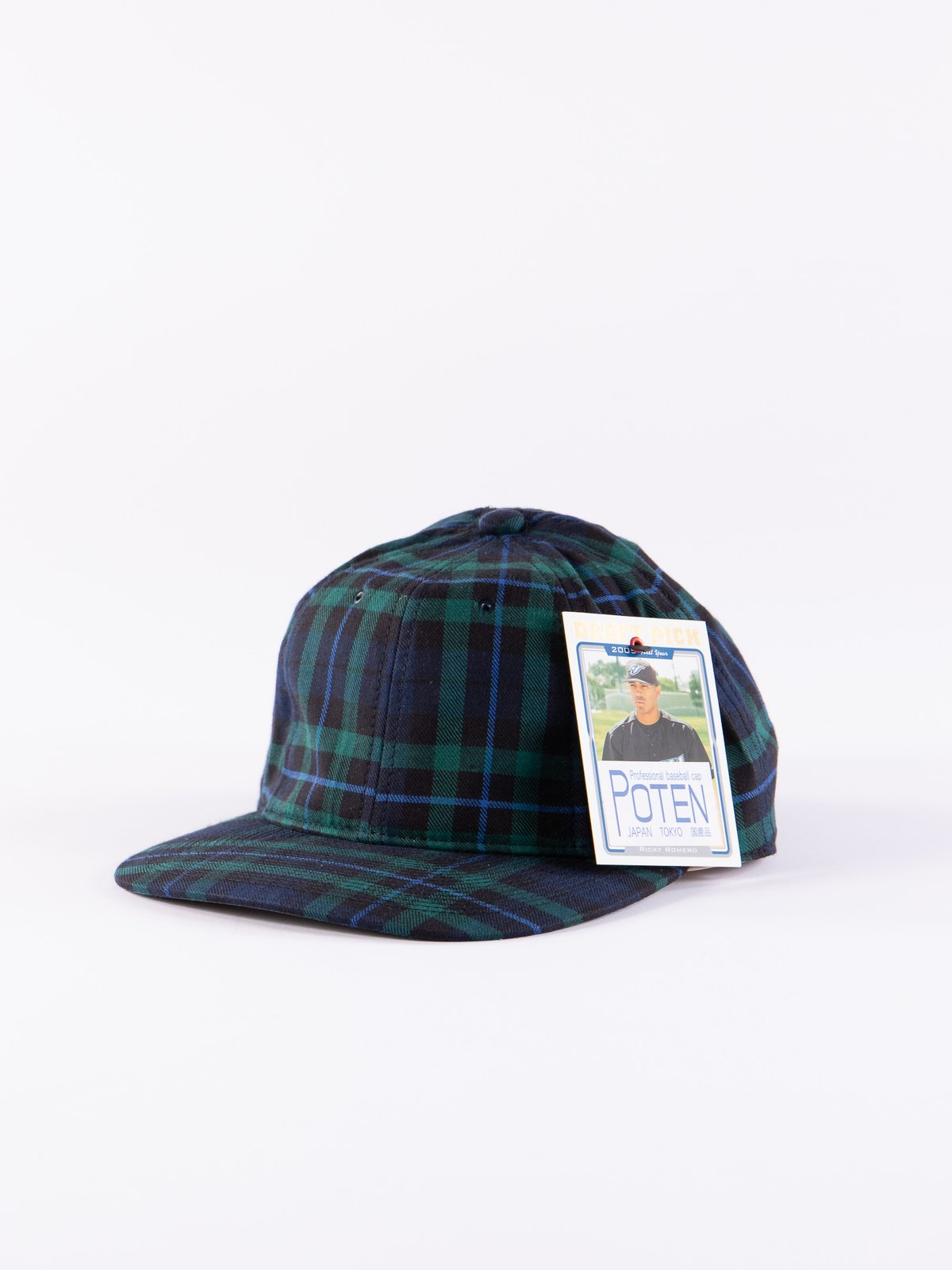 Navy Japanese Flannel Cap - Image 1