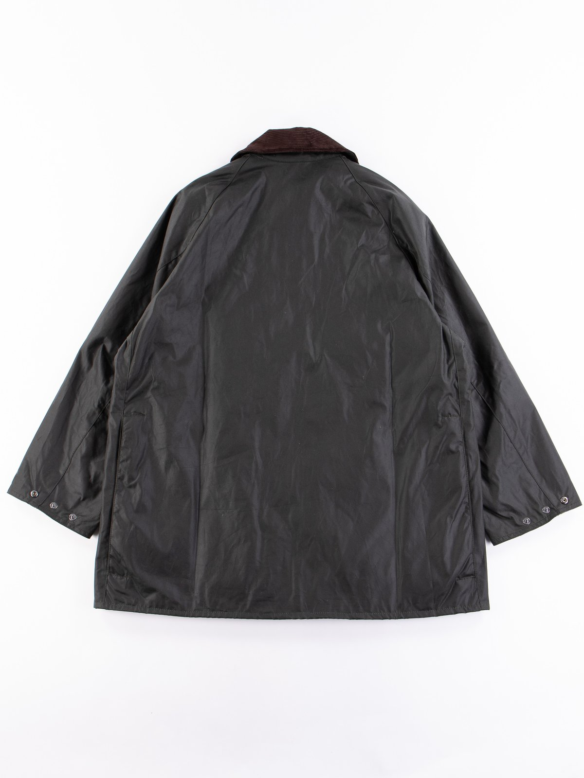 Sage Oversized Beaufort Waxed Cotton Jacket - Image 9
