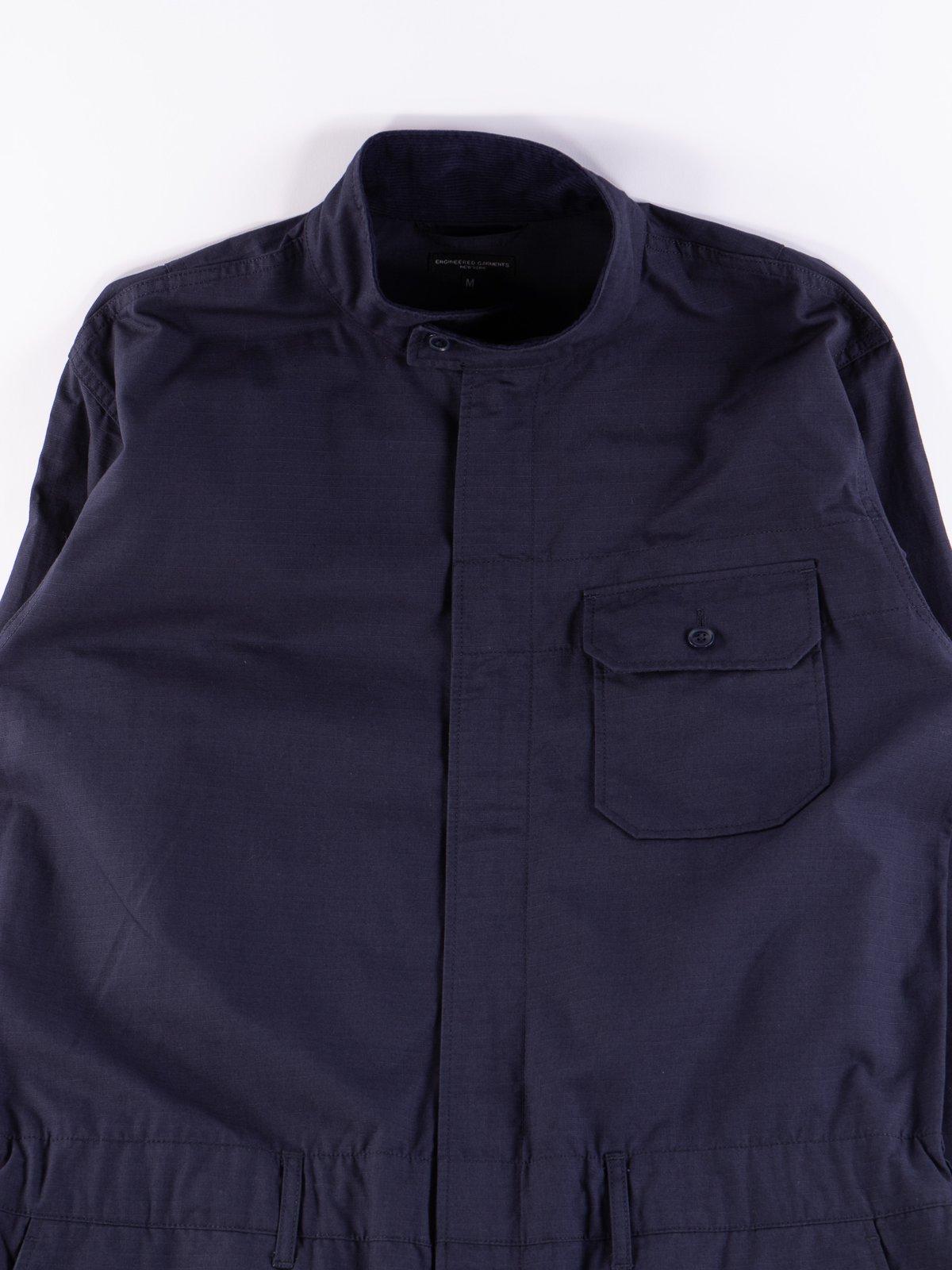 Dark Navy Cotton Ripstop Boiler Suit - Image 4