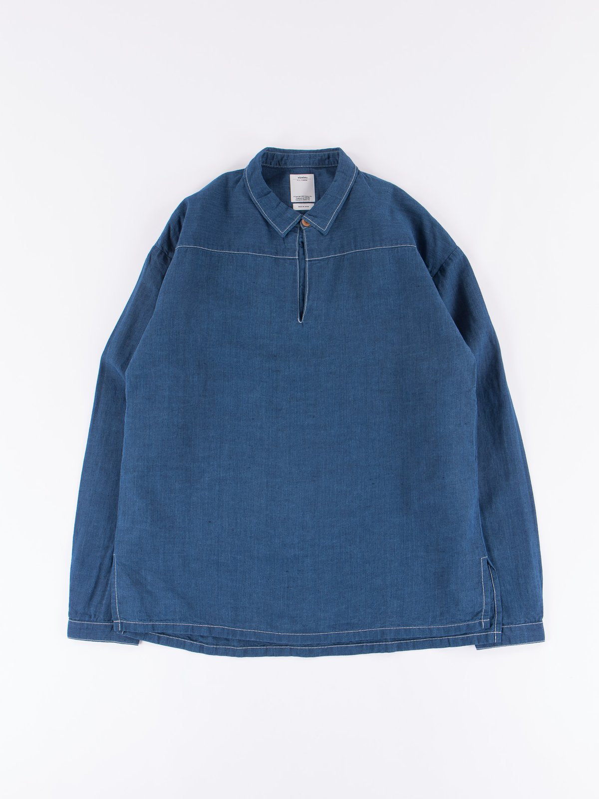 Navy Chambray Kerchief Tunic Shirt - Image 1