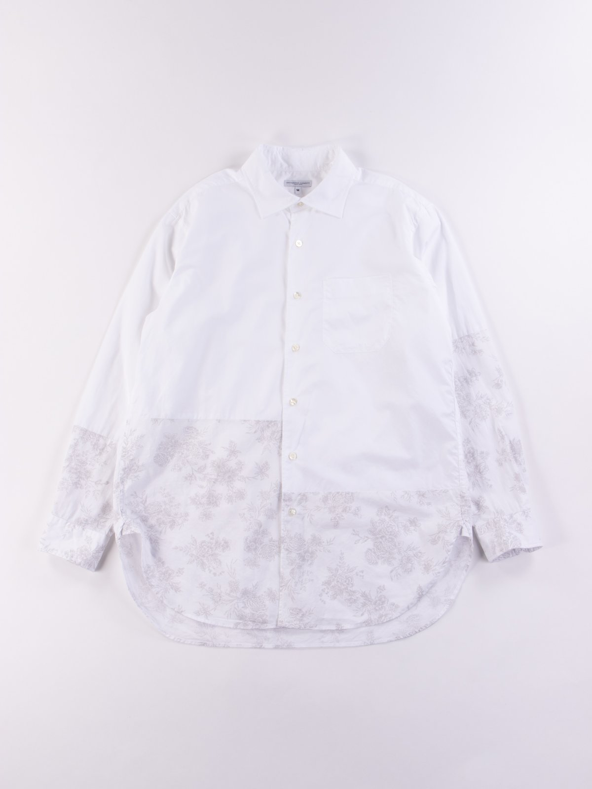 White 100's 2Ply Broadcloth Spread Collar Shirt SS20 - Image 1