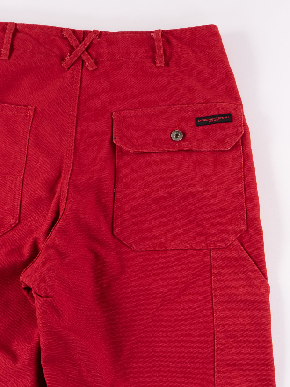 Red 12oz Duck Canvas Logger Pant - Image 5