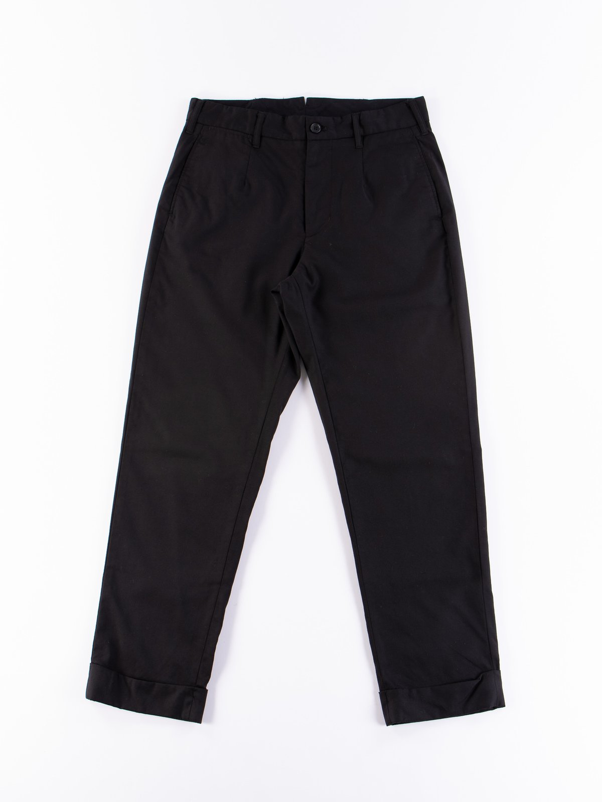 Black Worsted Wool Gabardine Andover Pant - Image 1