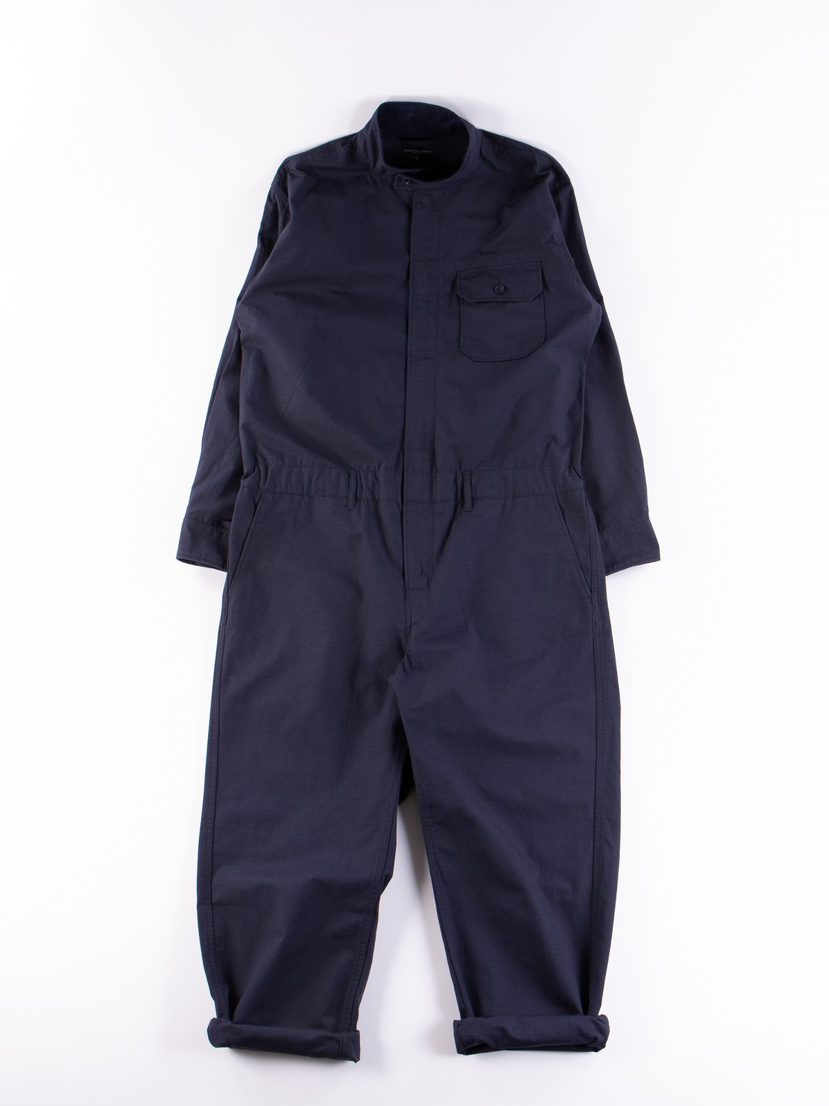 Dark Navy Cotton Ripstop Boiler Suit - Image 1