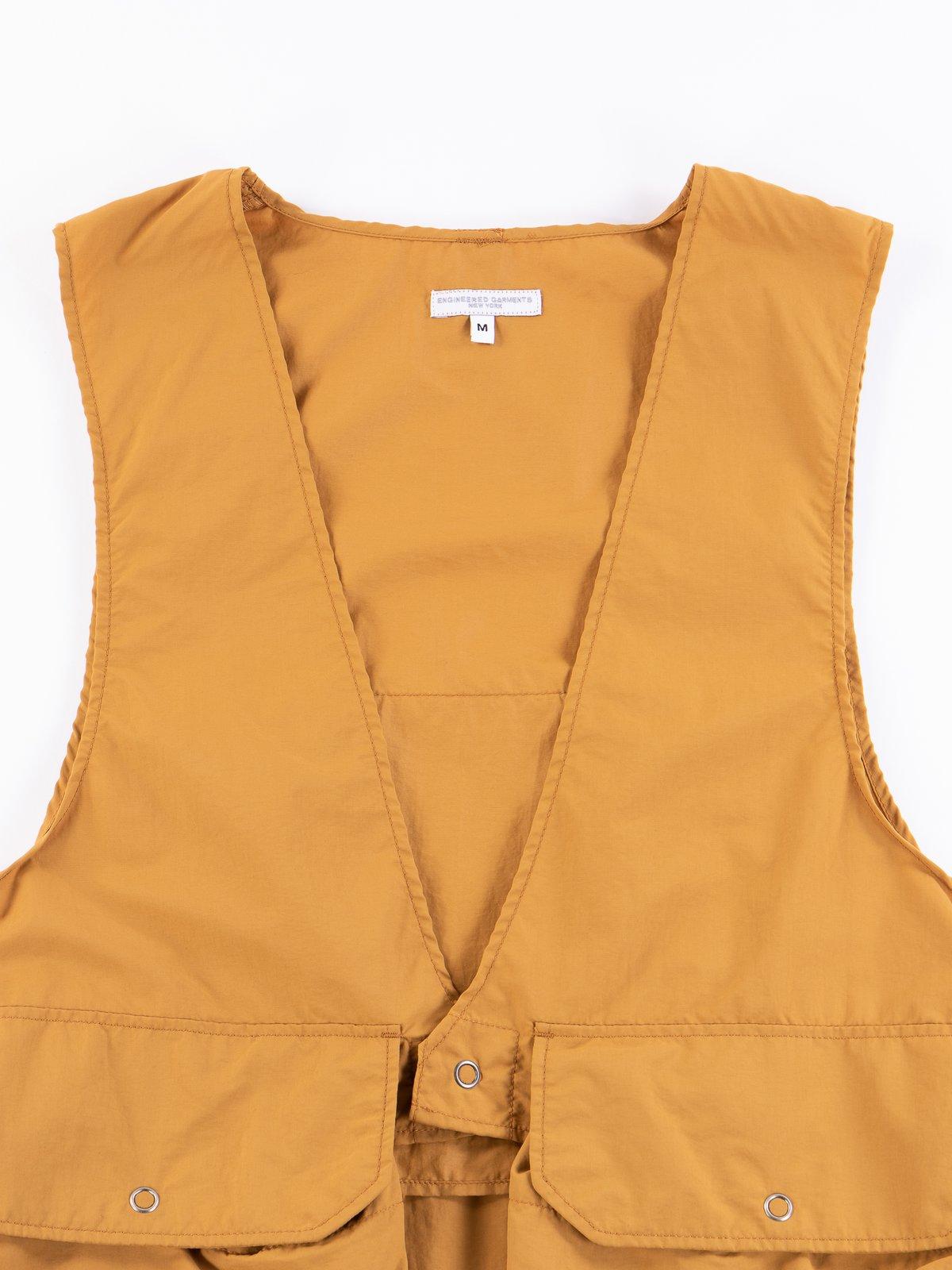 Mustard Acrylic Coated Nylon Taffetta Fowl Vest - Image 3