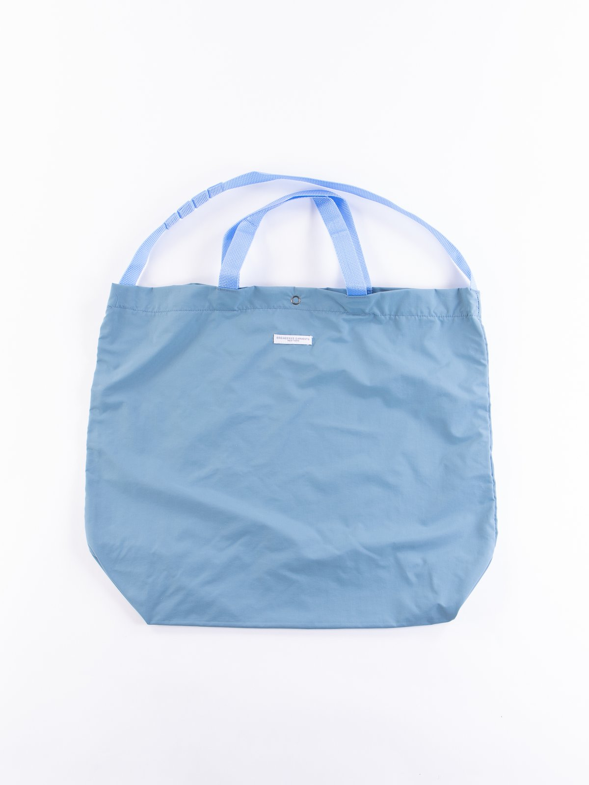 Light Blue Acrylic Coated Nylon Taffeta Carry All Tote - Image 1