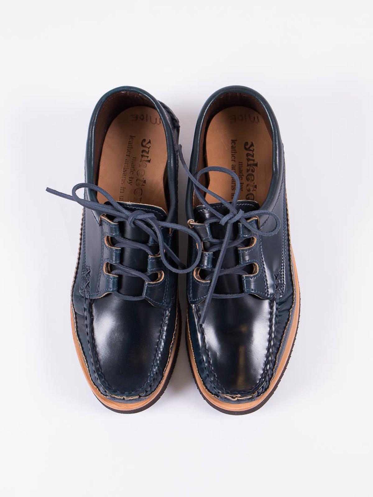 Navy Cordovan Ghillie Moc DB Shoe Exclusive - Image 5