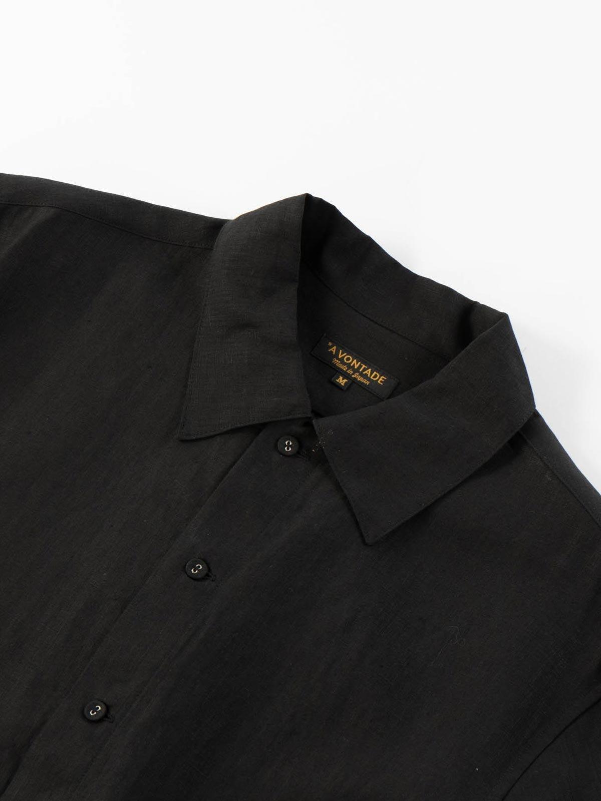 LINEN GARDNER SHIRT BLACK - Image 3