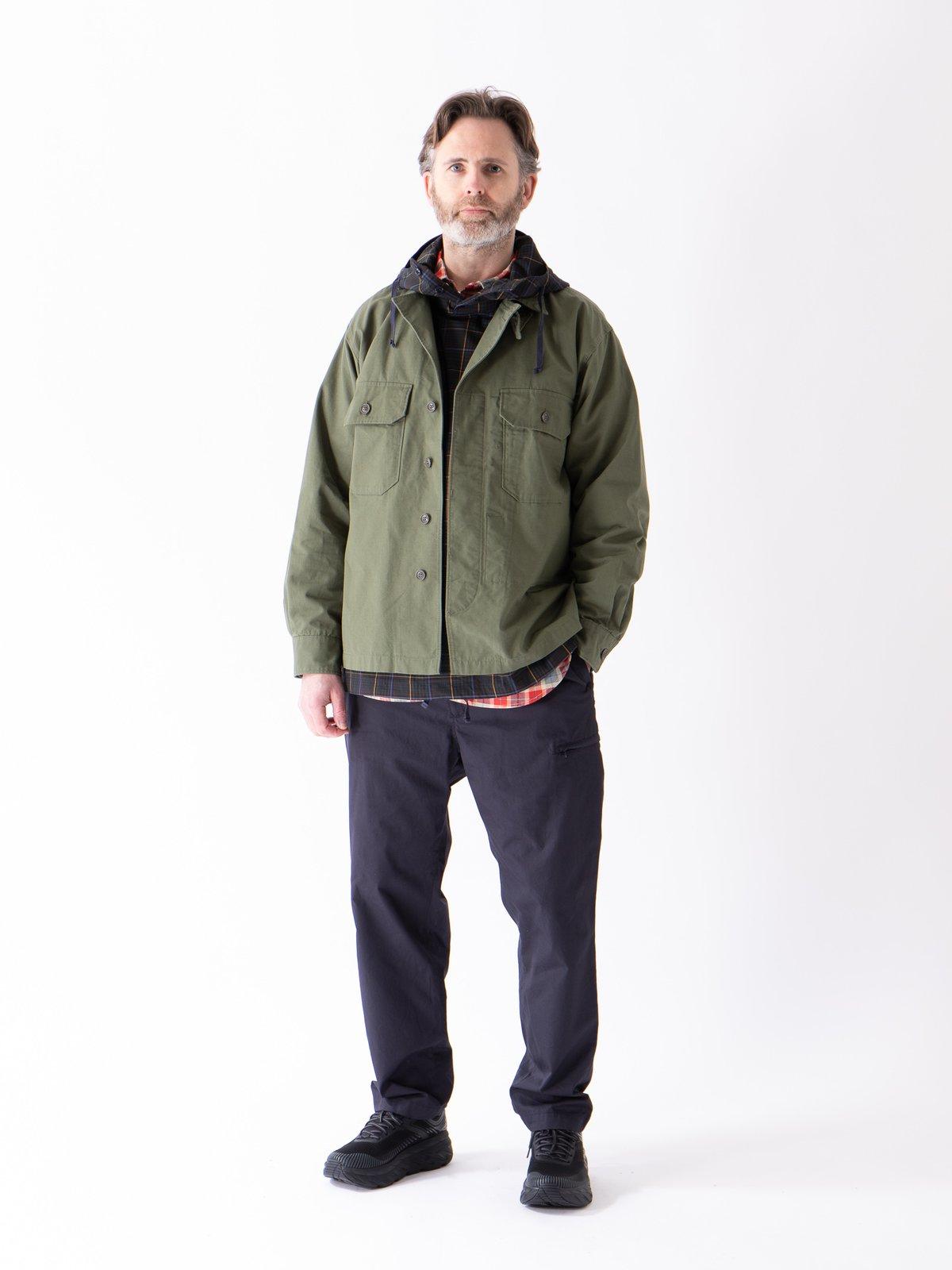 Olive Cotton Ripstop MC Shirt Jacket - Image 2