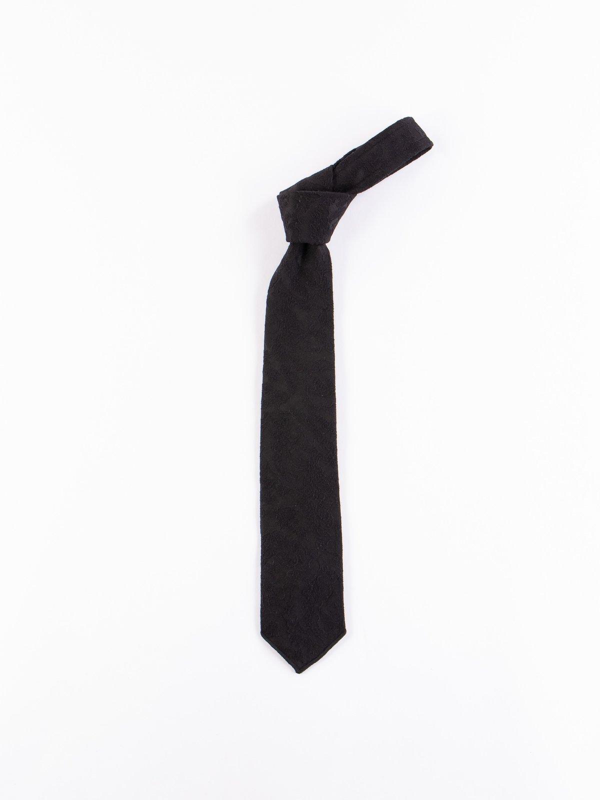 Black Big Paisley Jacquard Neck Tie - Image 1