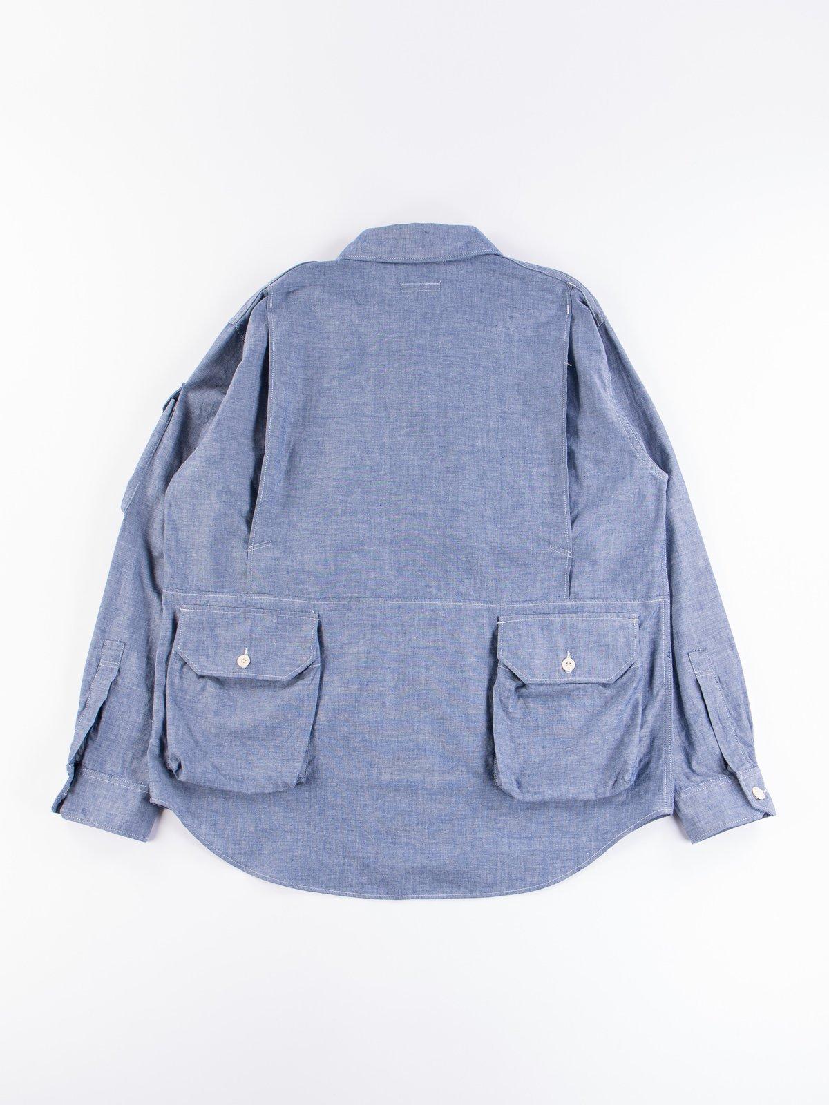 Blue Cotton Chambray Explorer Shirt Jacket - Image 7