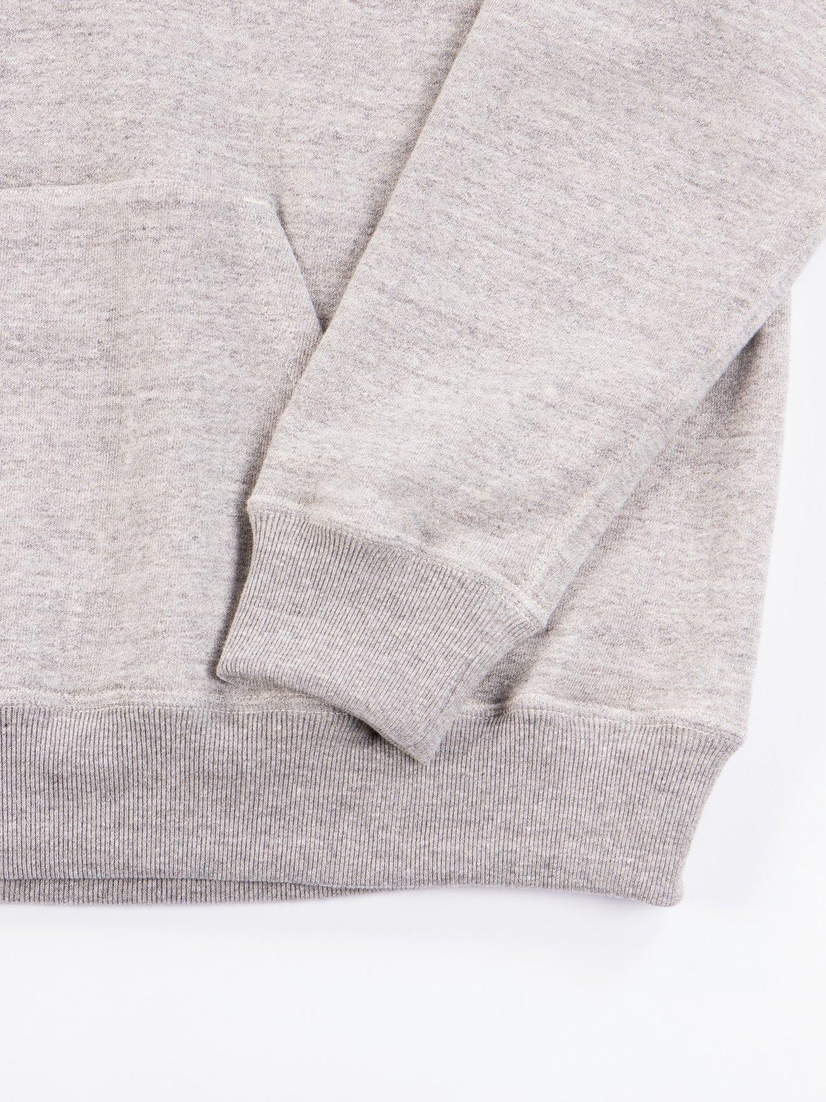 Heather Grey Hooded Sweat - Image 5