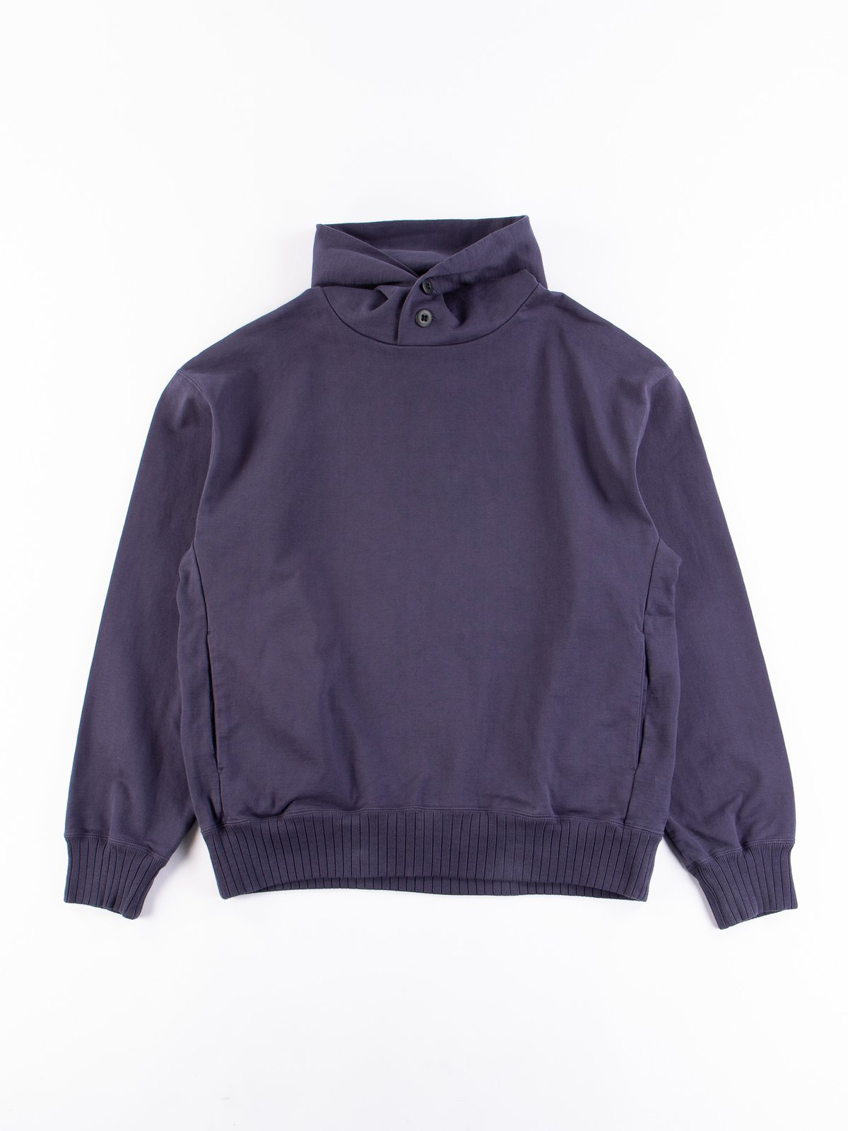 Classic Navy High Density Sweat Pullover Parka - Image 1