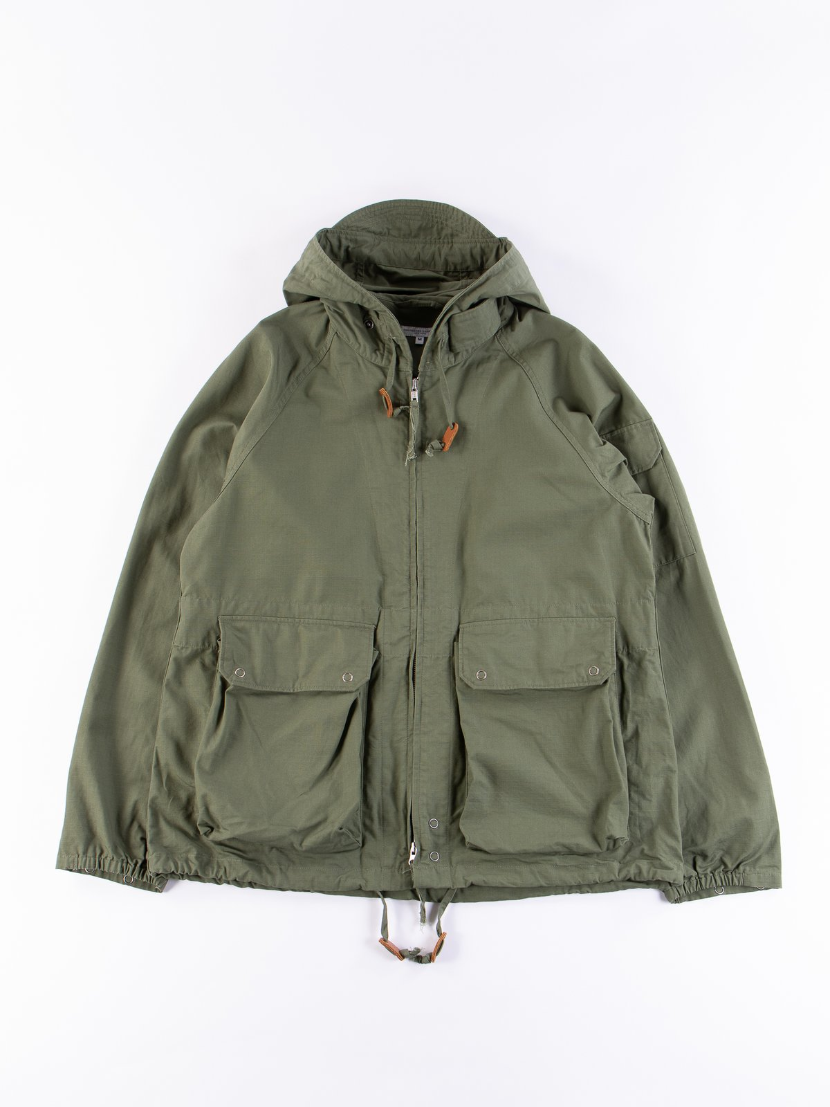 Olive Cotton Ripstop Atlantic Parka - Image 1