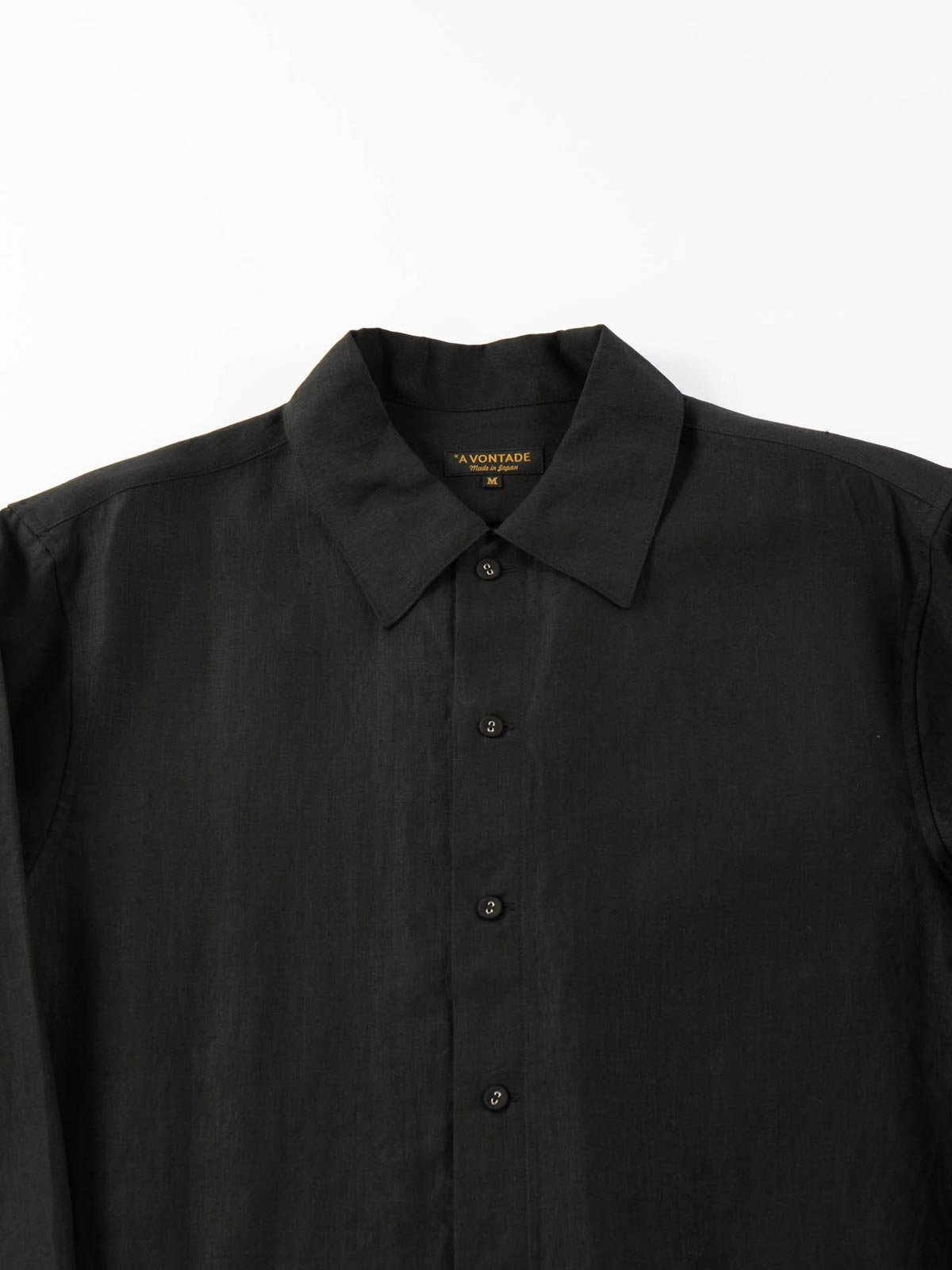 LINEN GARDNER SHIRT BLACK - Image 2