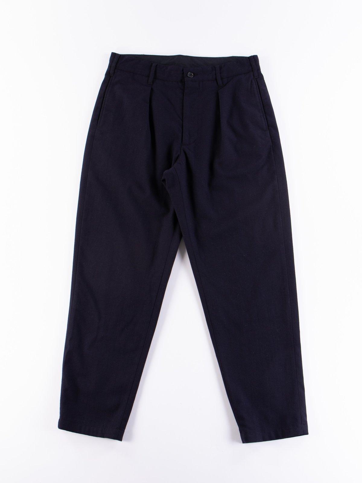 Dark Navy Wool Uniform Serge Carlyle Pant - Image 1