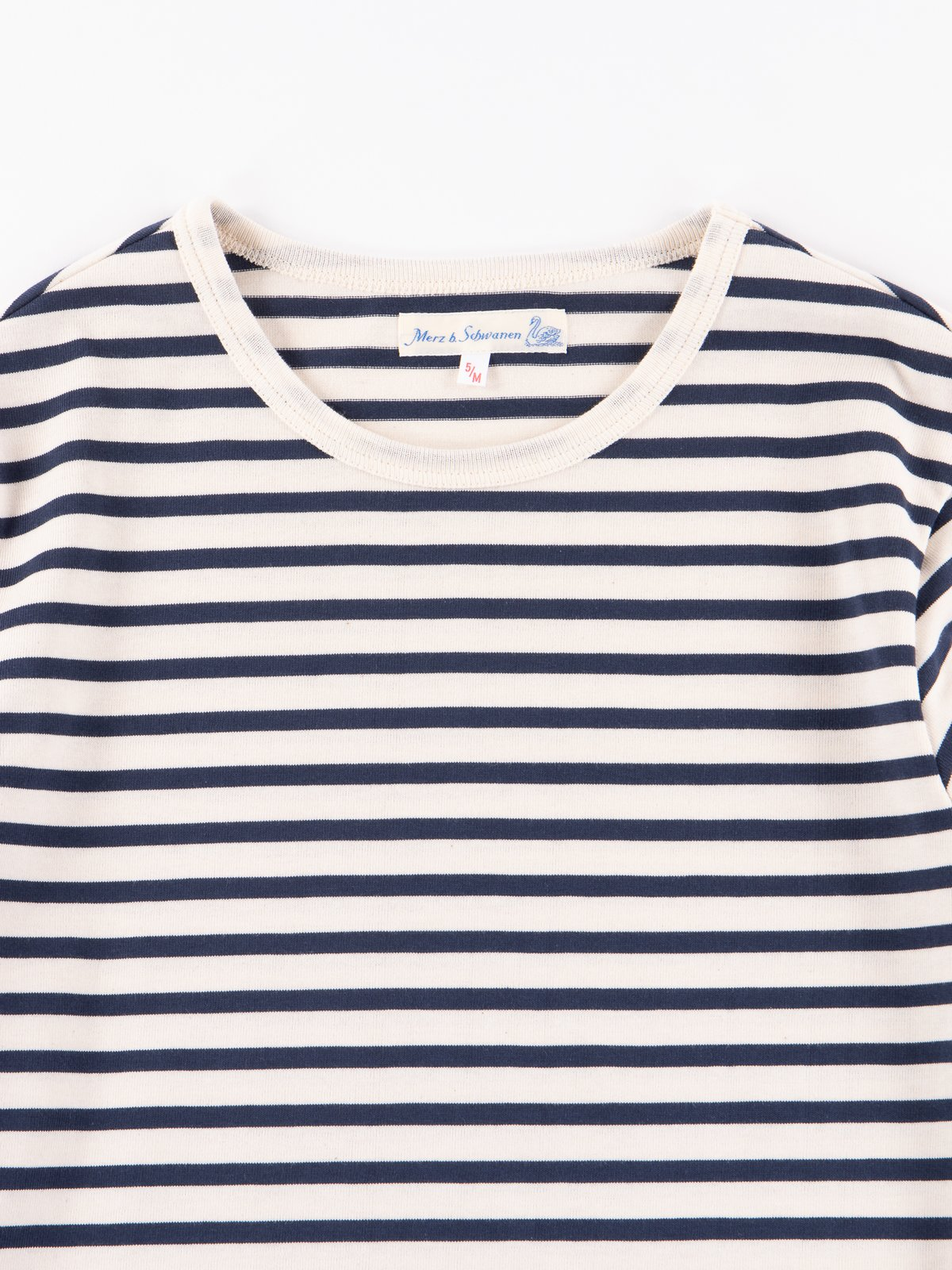 Ink/Natural Stripe 2M12 Crew Neck Long Sleeve Tee - Image 2