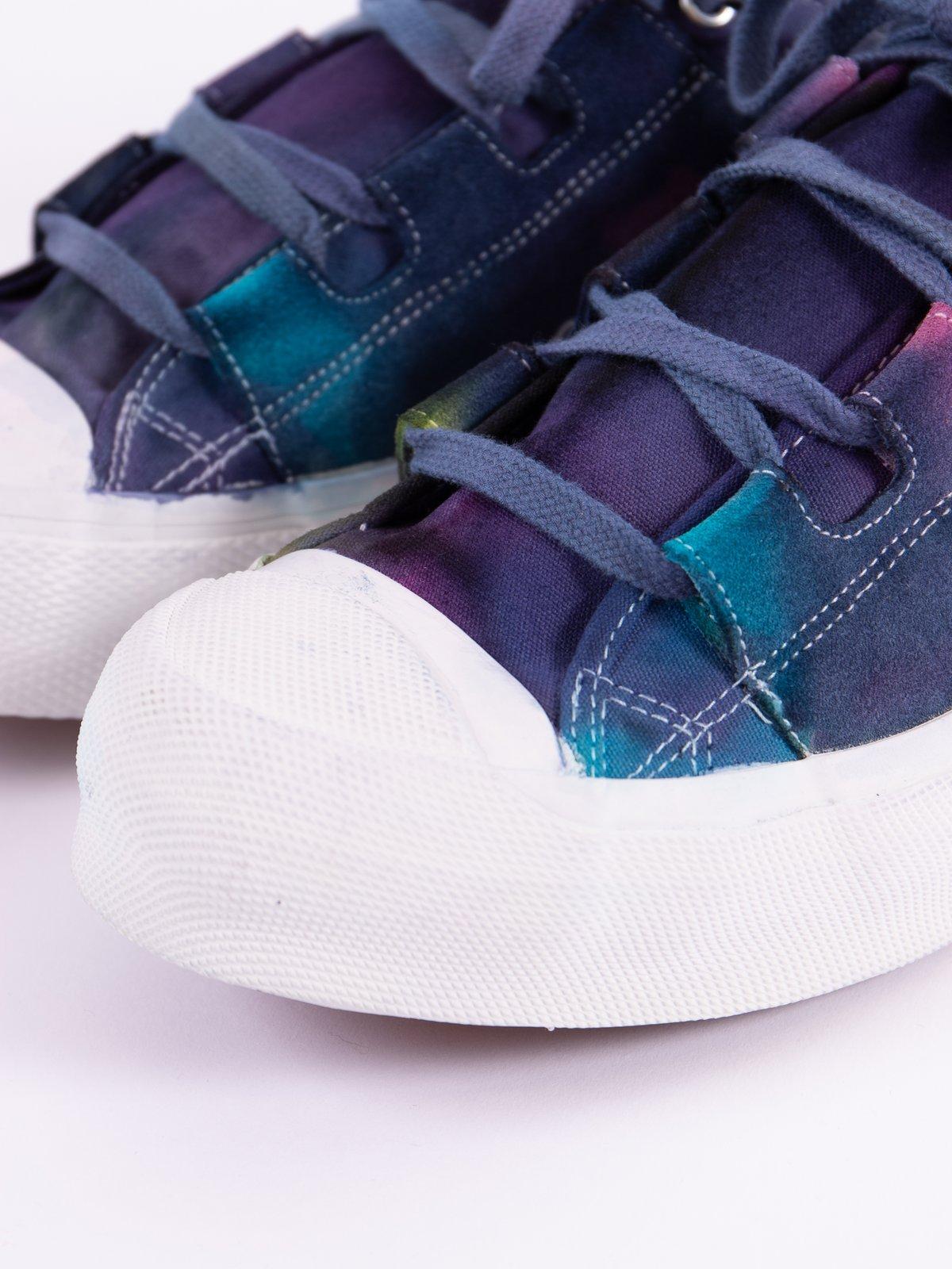 Purple/Yellow Asymmetric Ghillie Sneaker - Image 4