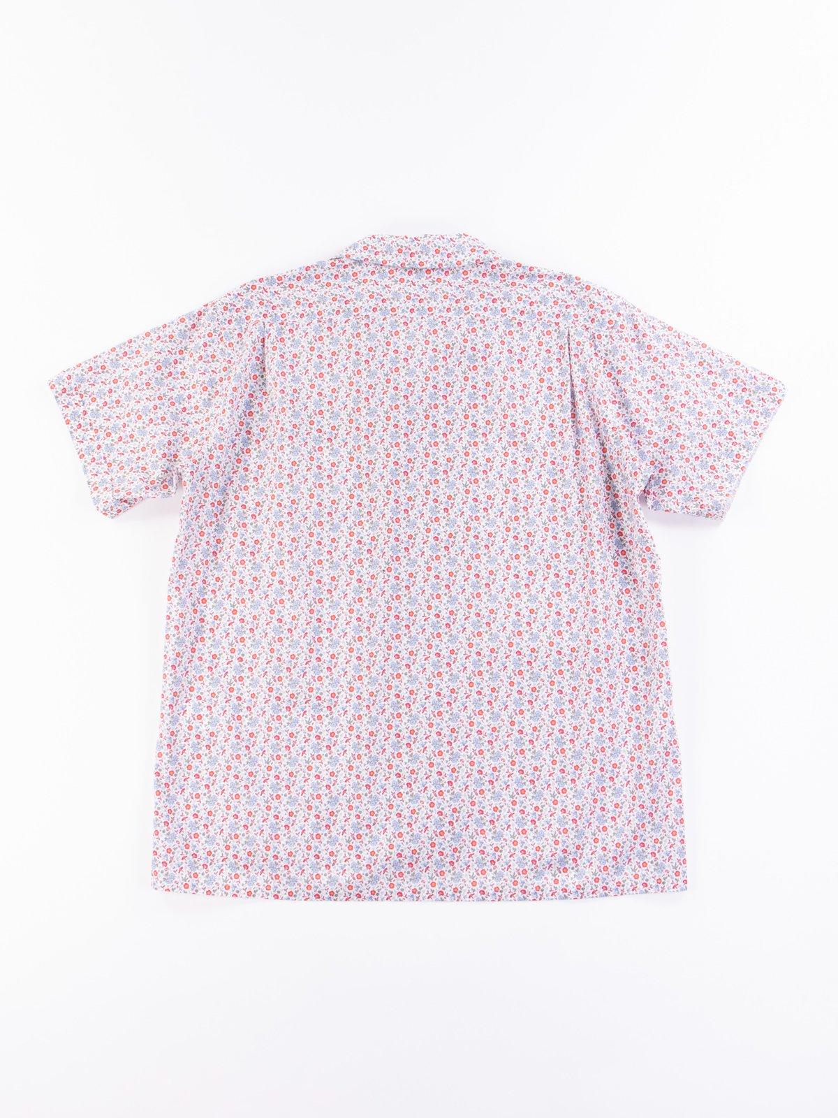 White/Blue/Orange Small Floral Camp Shirt - Image 5