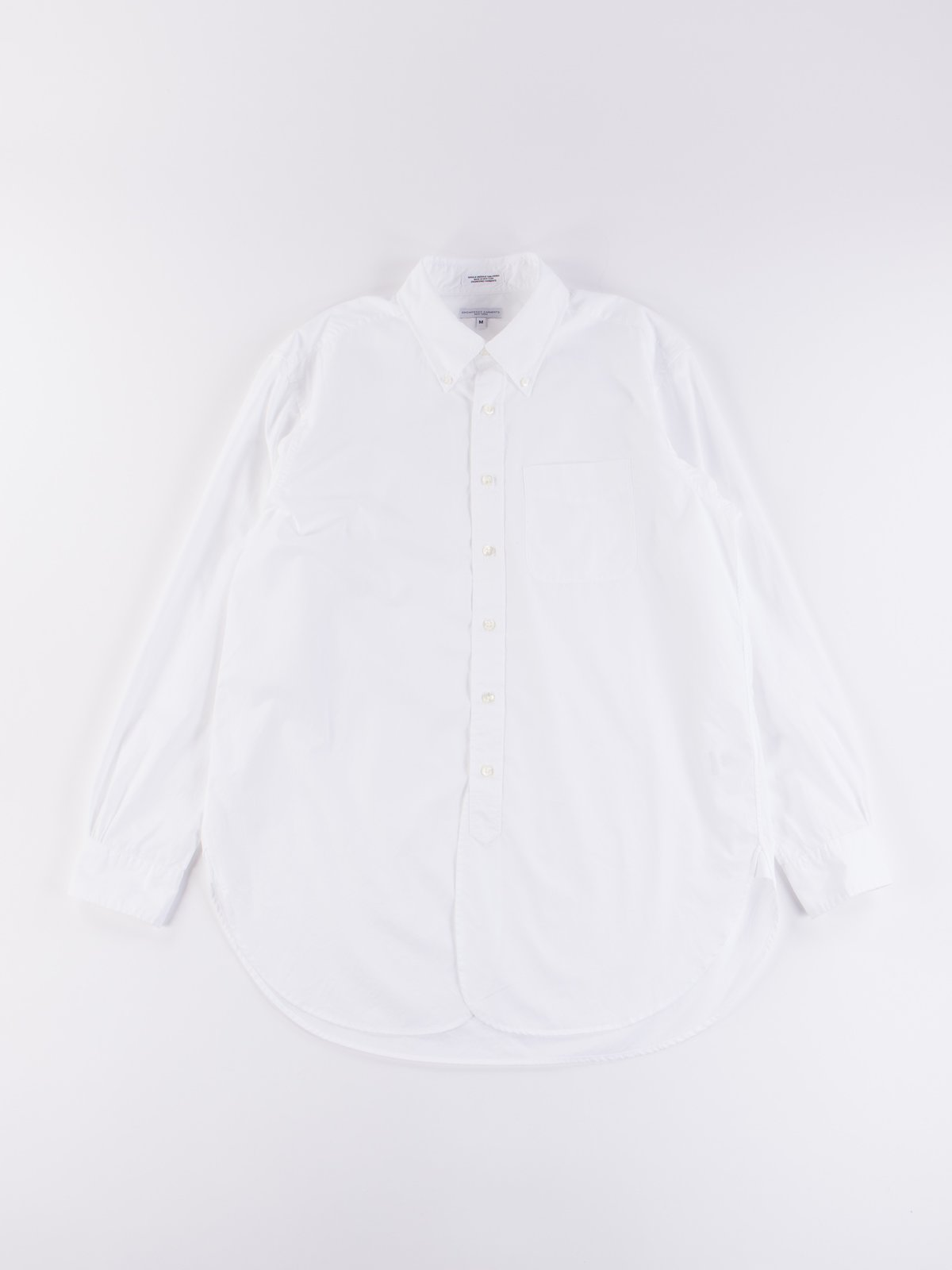 White 100's 2Ply Broadcloth 19th Century BD Shirt - Image 1