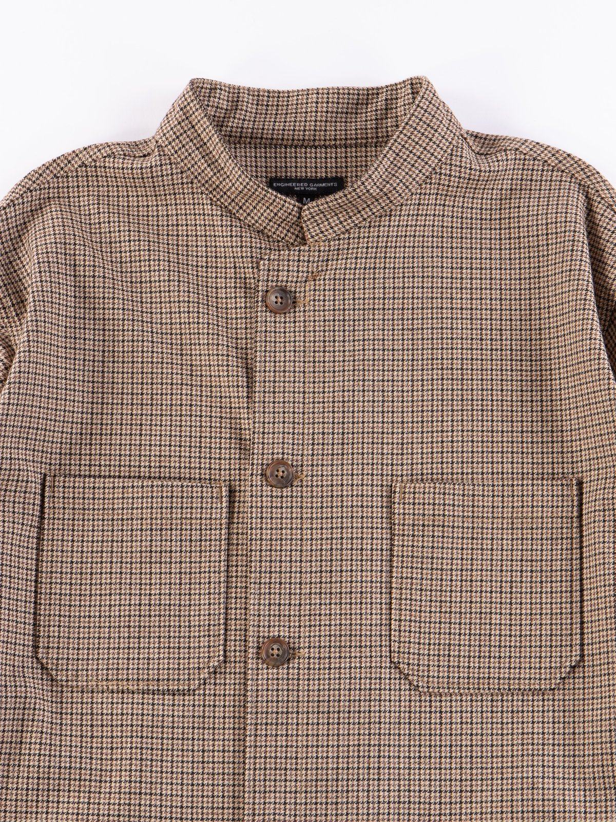 Brown Wool Poly Gunclub Dayton Shirt - Image 3