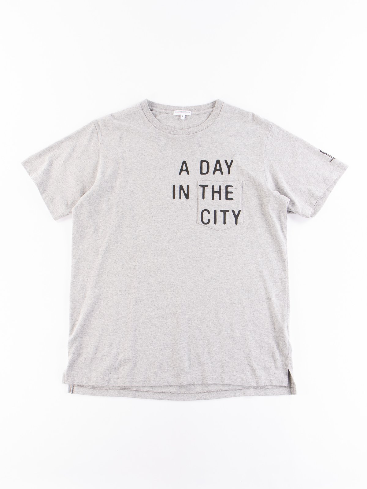 Grey A Day Printed Cross Crew Neck T–Shirt - Image 1