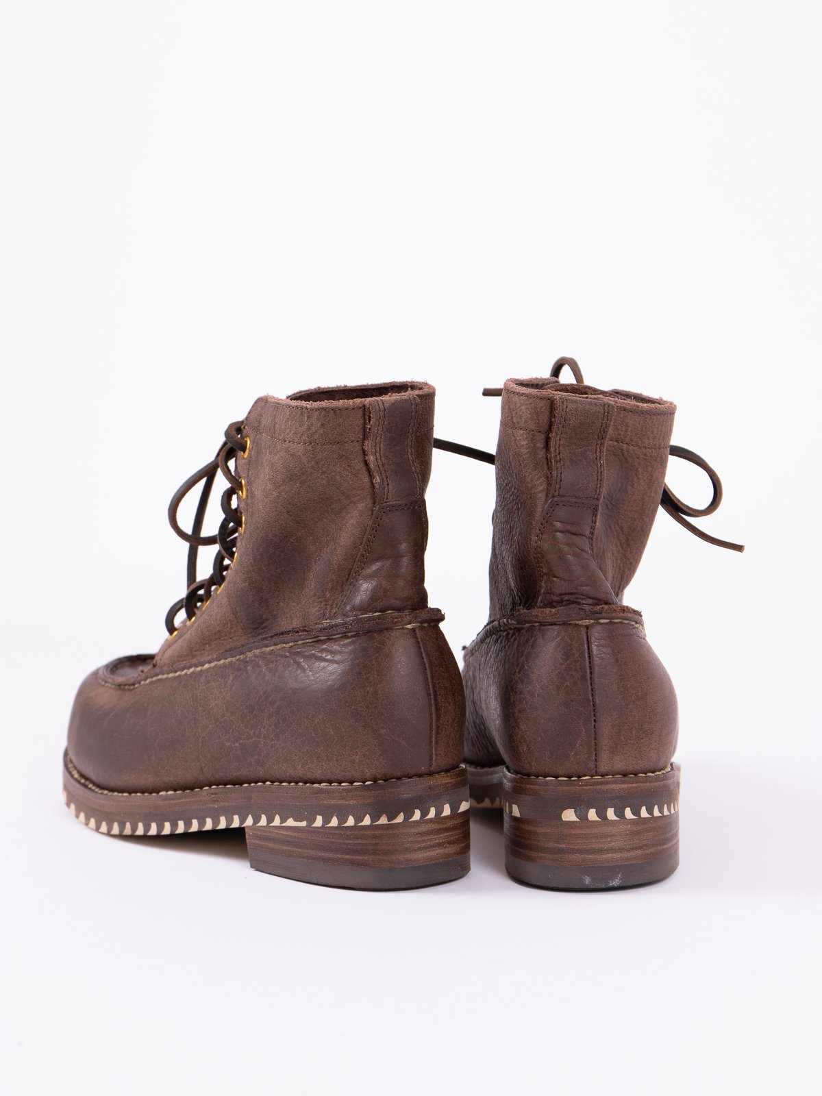 Dark Brown Kainai Moc Toe–Folk - Image 6