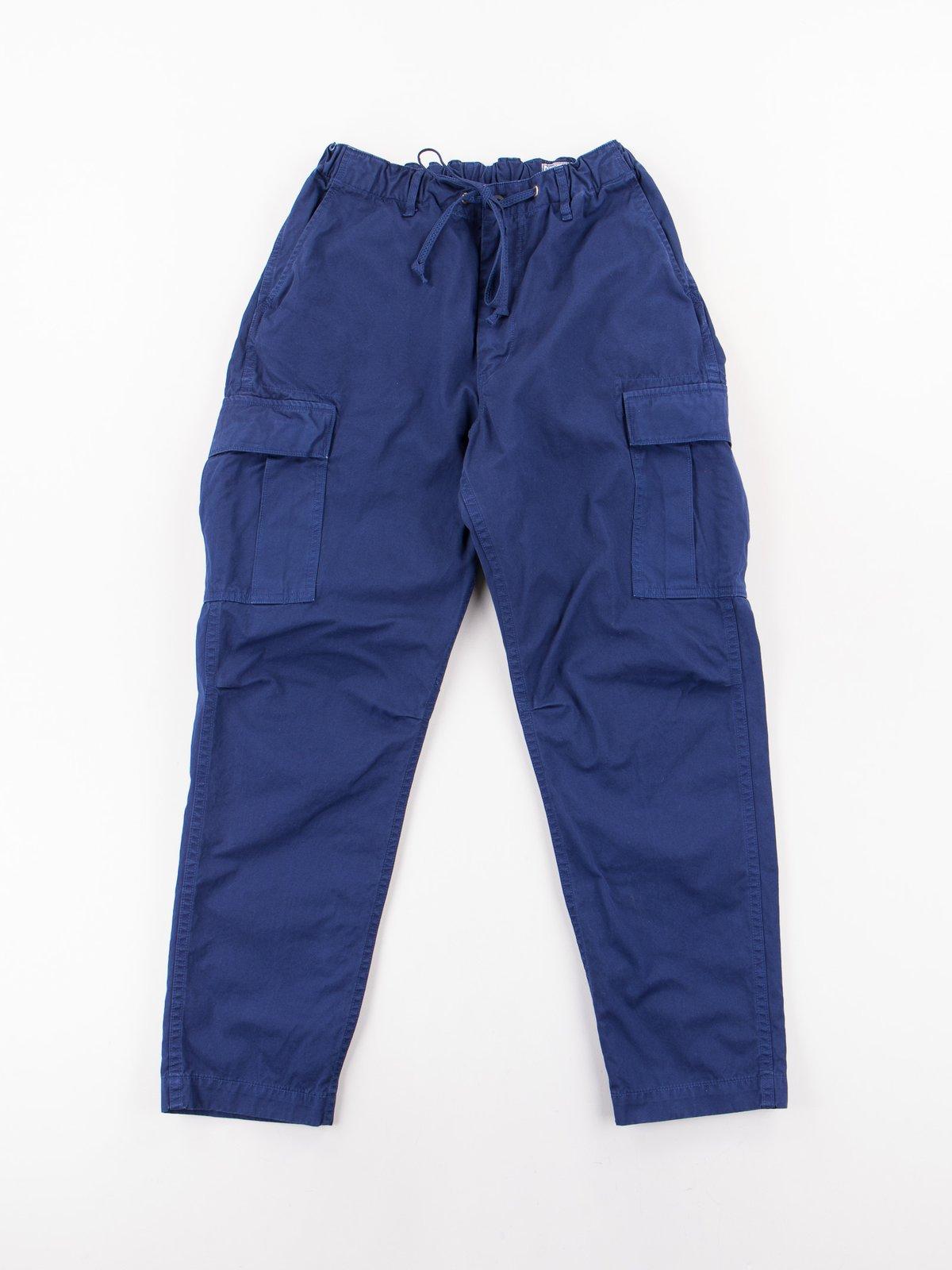 Ink Blue Poplin Easy Cargo Pant - Image 1