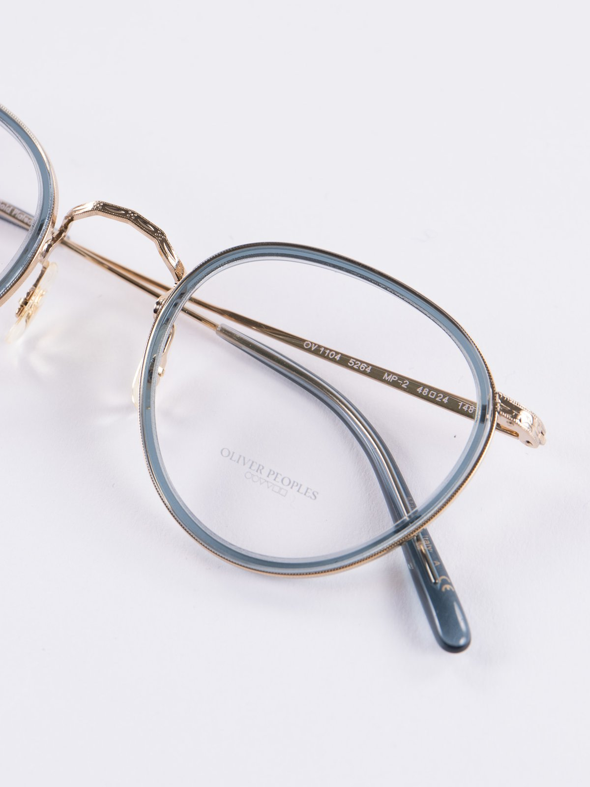 18k Gold/Washed Teal MP–2 Optical Frame by Oliver Peoples – The ...