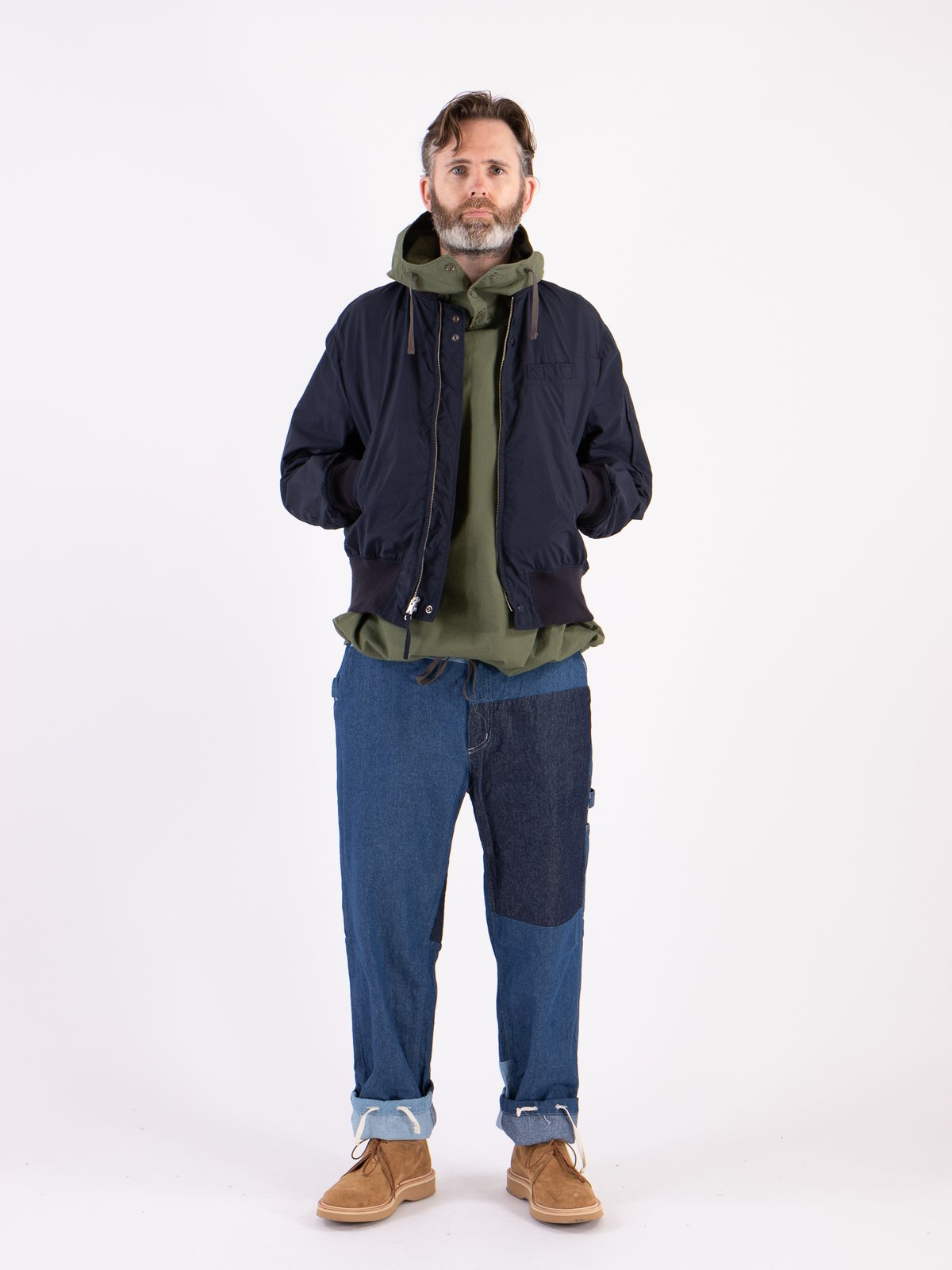 Olive Cotton Ripstop Cagoule Shirt - Image 3