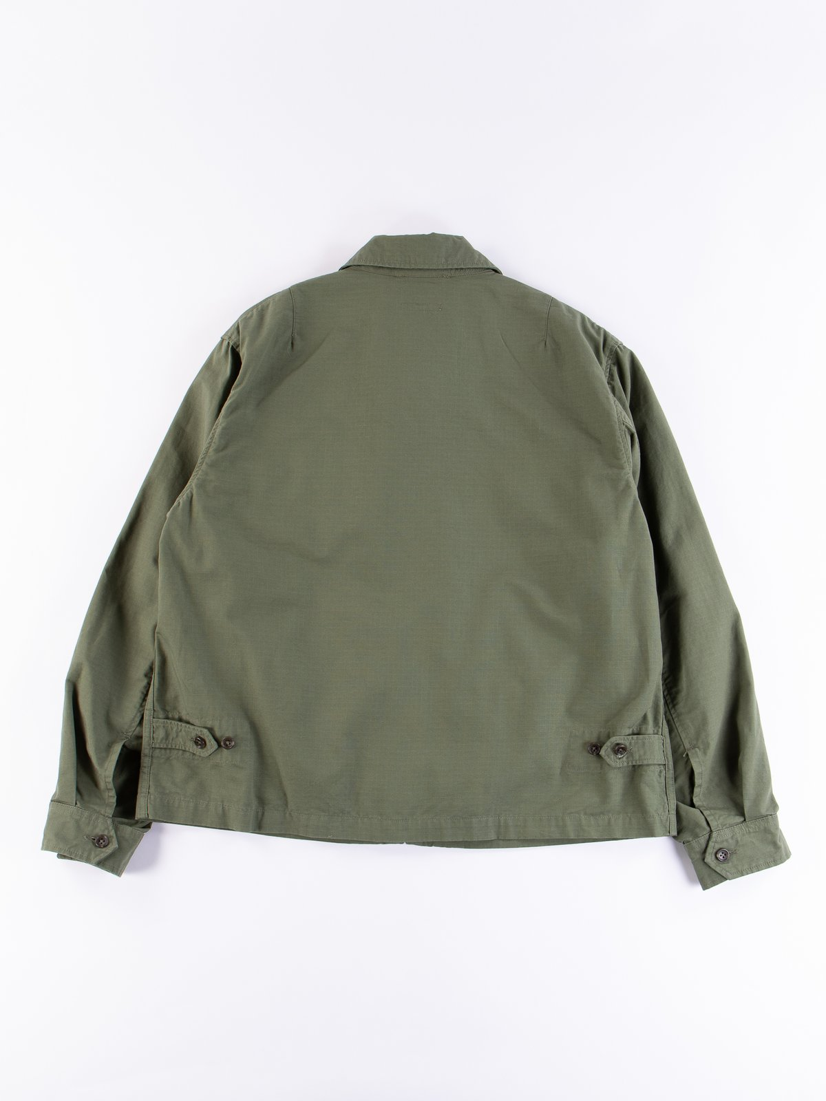 Olive Cotton Ripstop Driver Jacket - Image 5