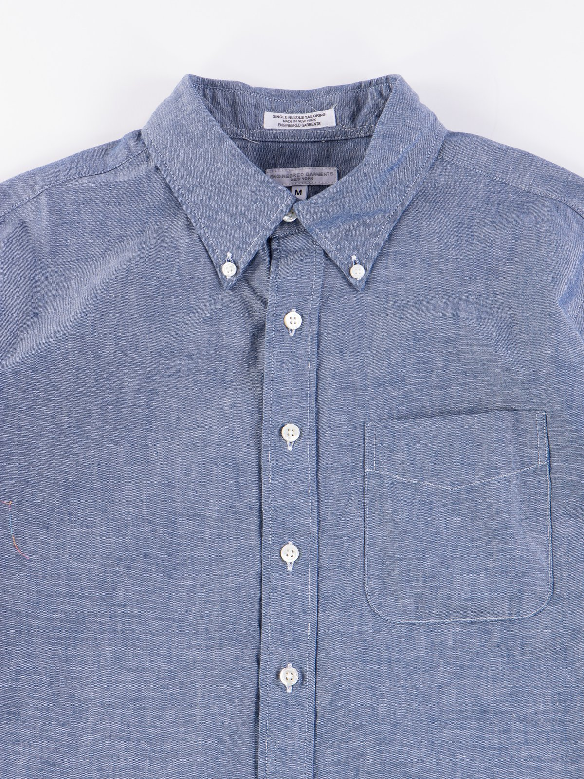 Blue Cotton Chambray 19th Century BD Shirt - Image 4