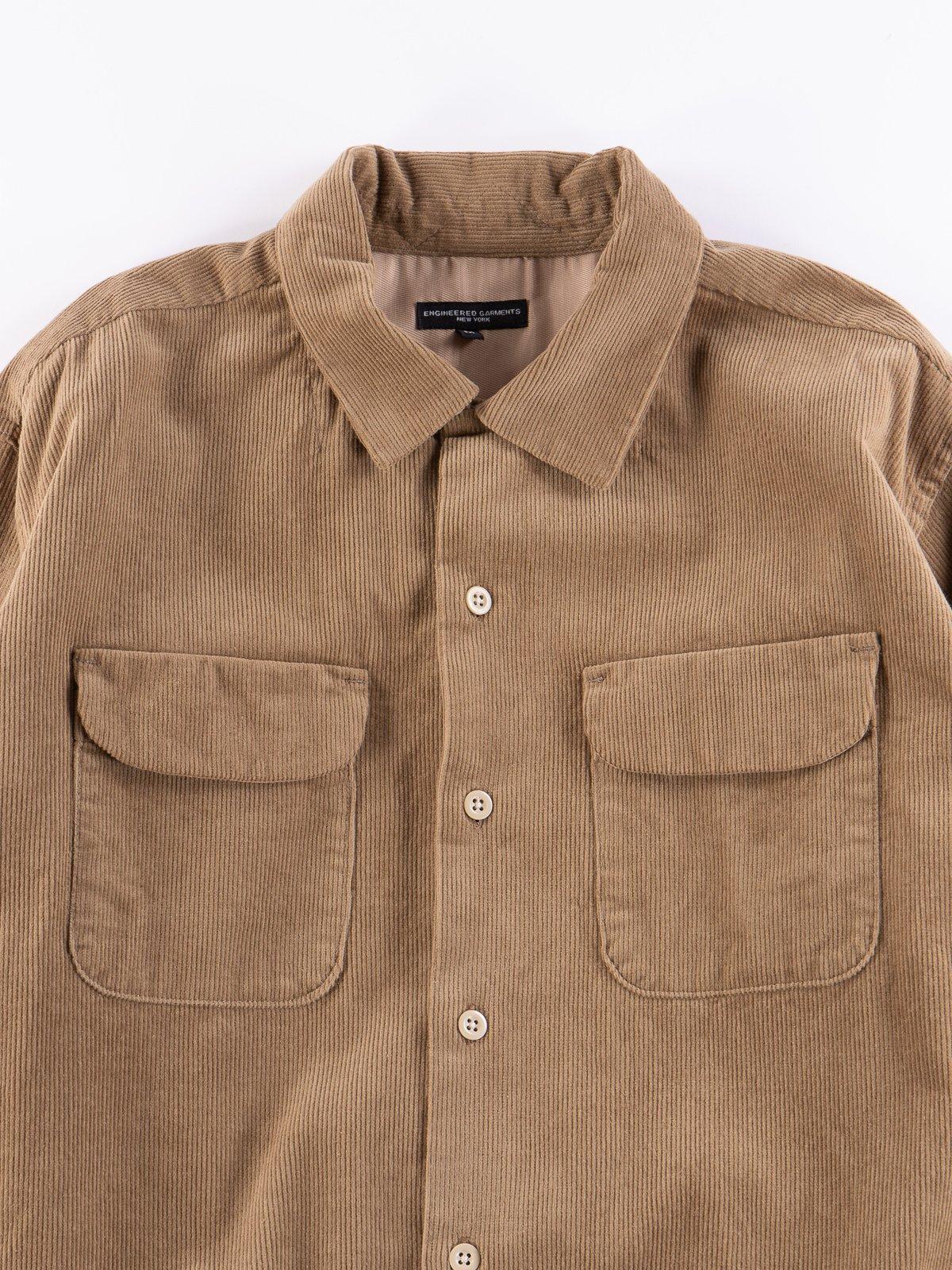 Khaki 14W Corduroy Classic Shirt - Image 3