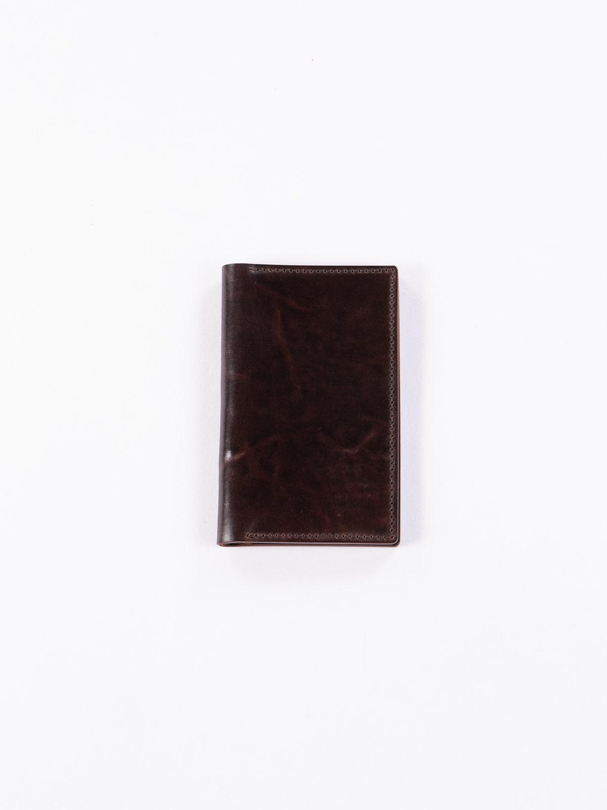 Tumbled Color 8 Horween Cordovan 1–1 Card Case - Image 1