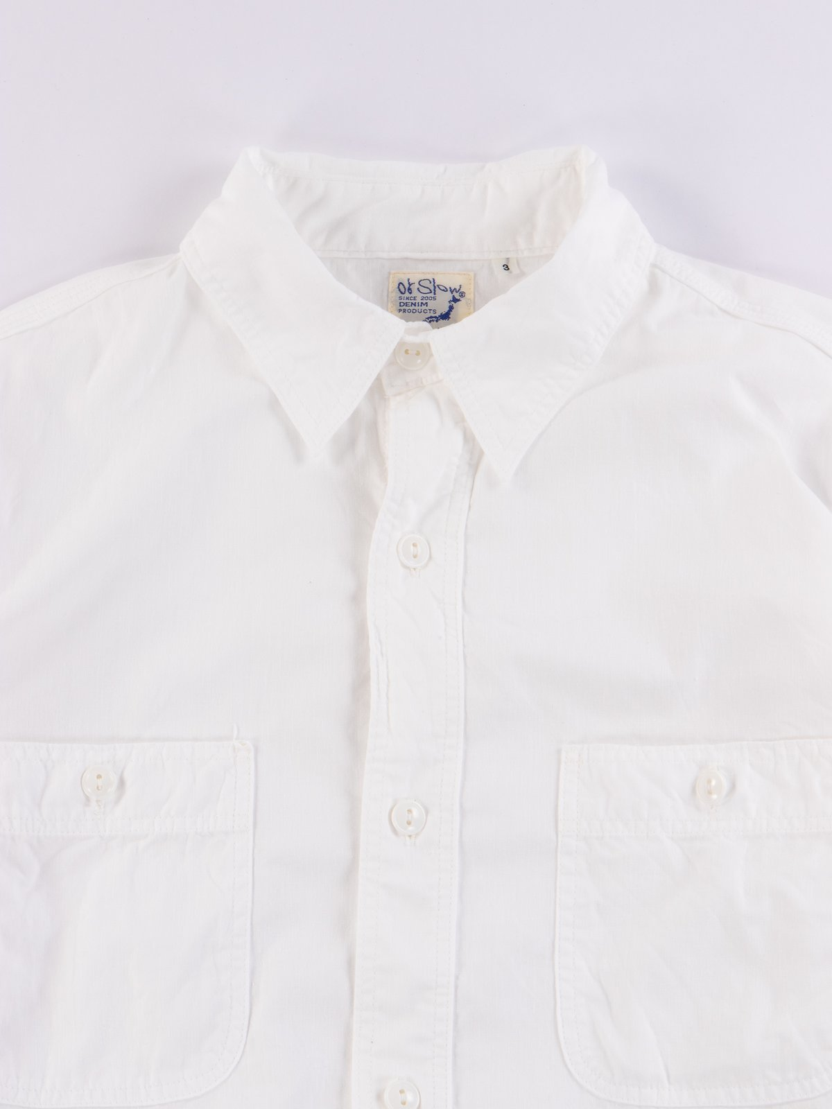 White Chambray Work Shirt - Image 2