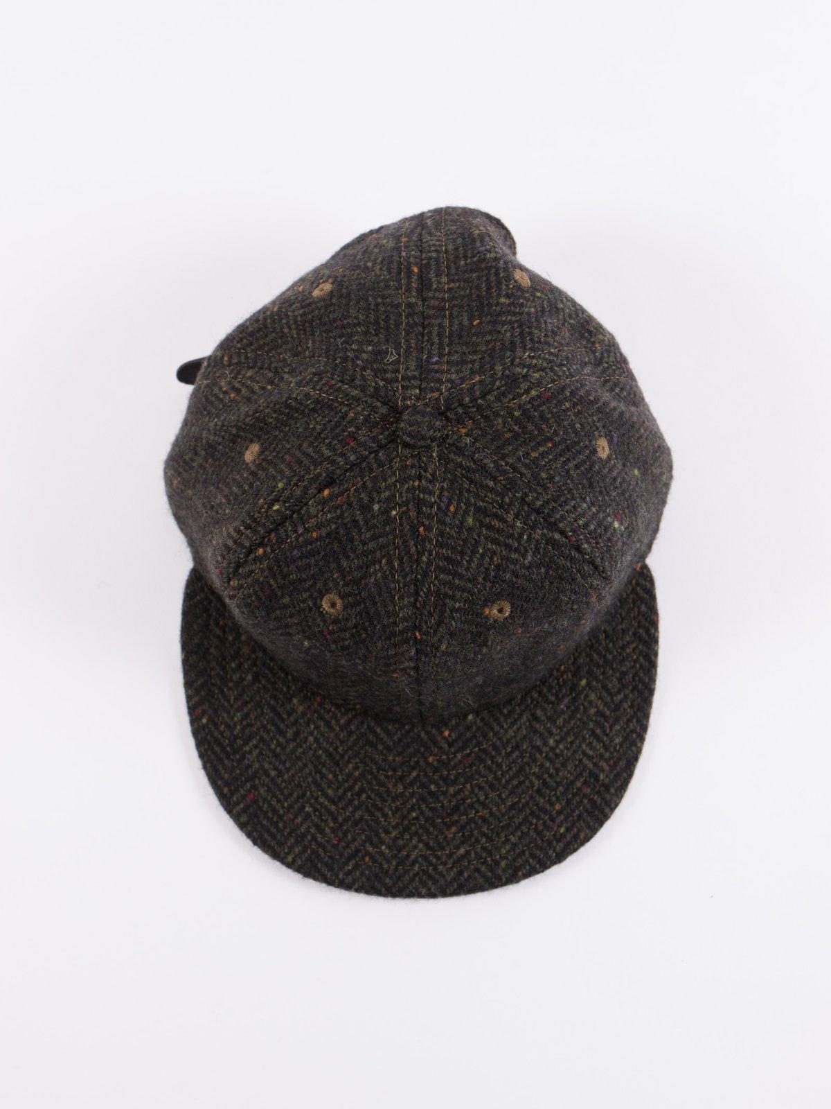 Olive HB Tweed NIer 6 Panel Ballcap - Image 5