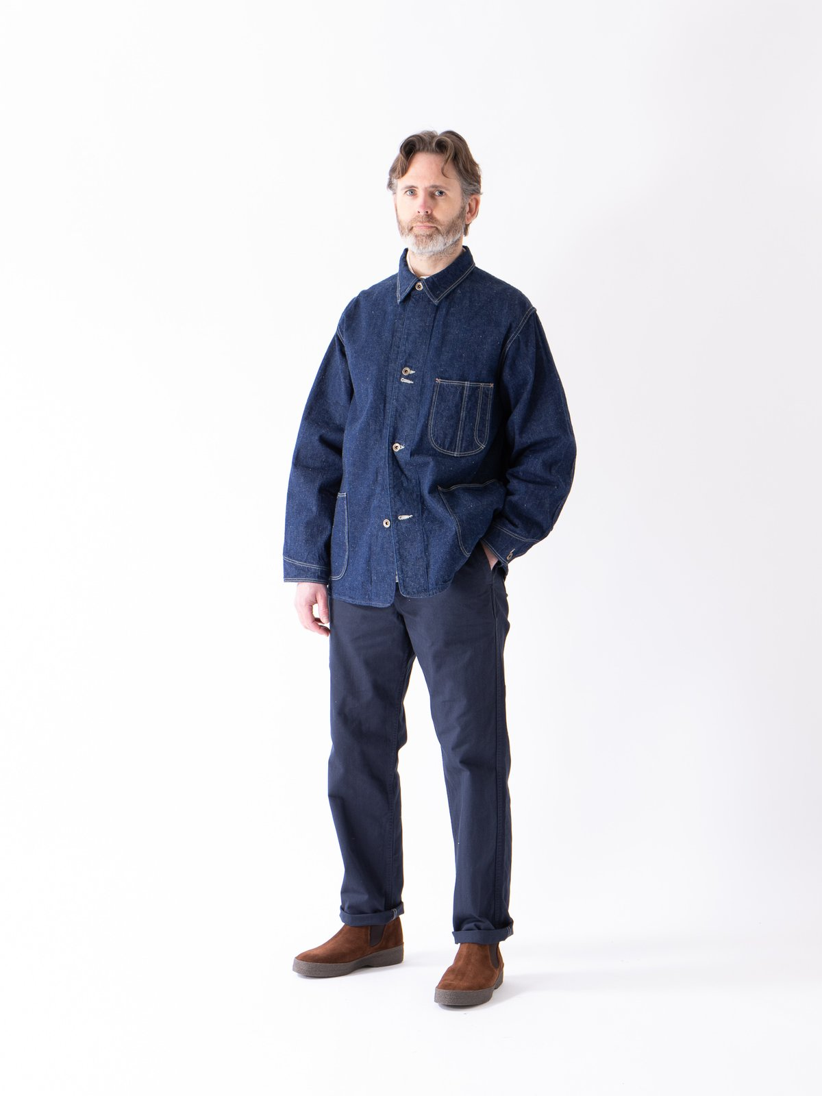 One Wash Denim 40's Coverall - Image 3