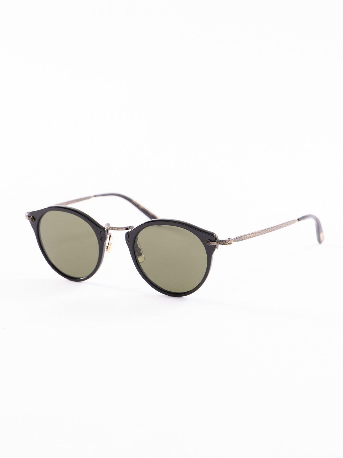 Black–Antique Gold/Green OP–505 Sunglasses - Image 2