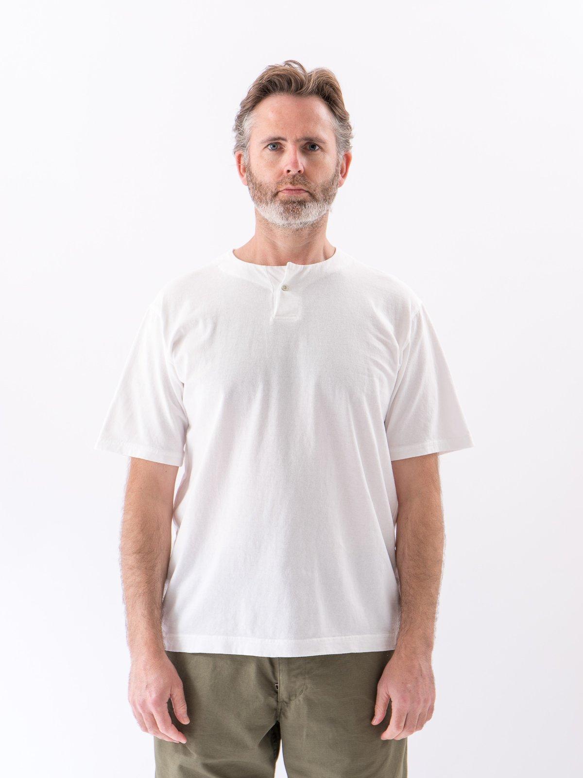 White Henley T–Shirt - Image 2