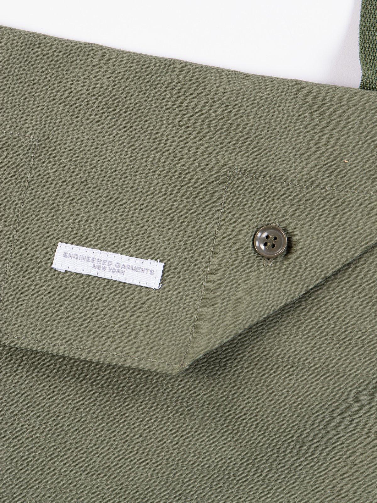 Olive Cotton Ripstop Shoulder Pouch - Image 2