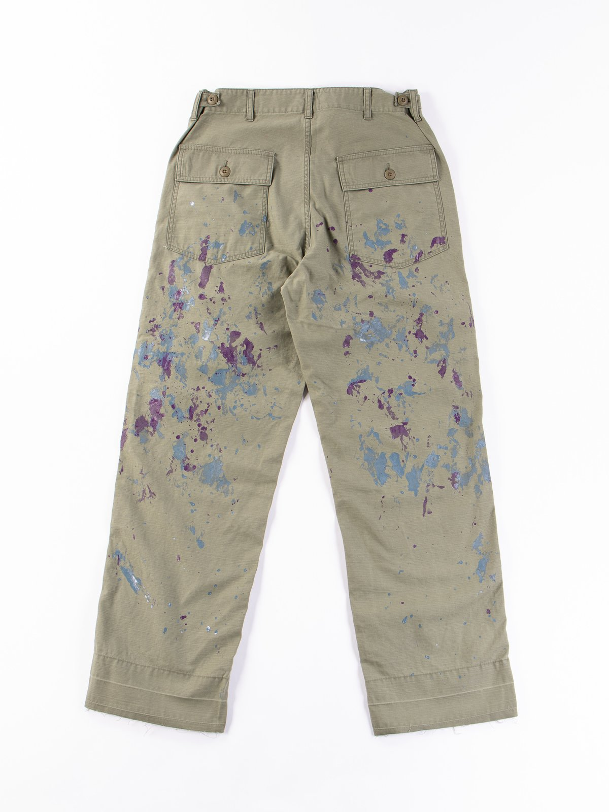Olive Paint Sateen Fatigue Pant - Image 4