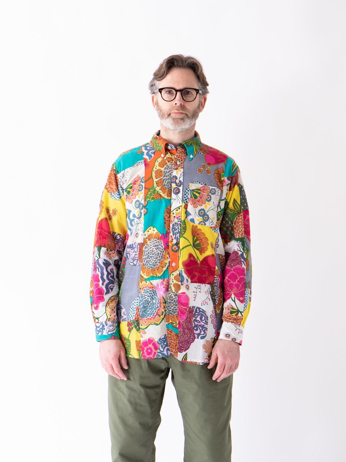 Multi Color Cotton Floral Patchwork 19th Century BD Shirt - Image 2